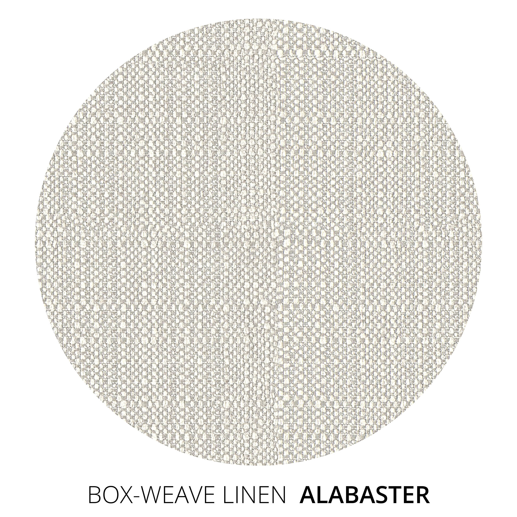 Alabaster Box Weave Linen Swatch