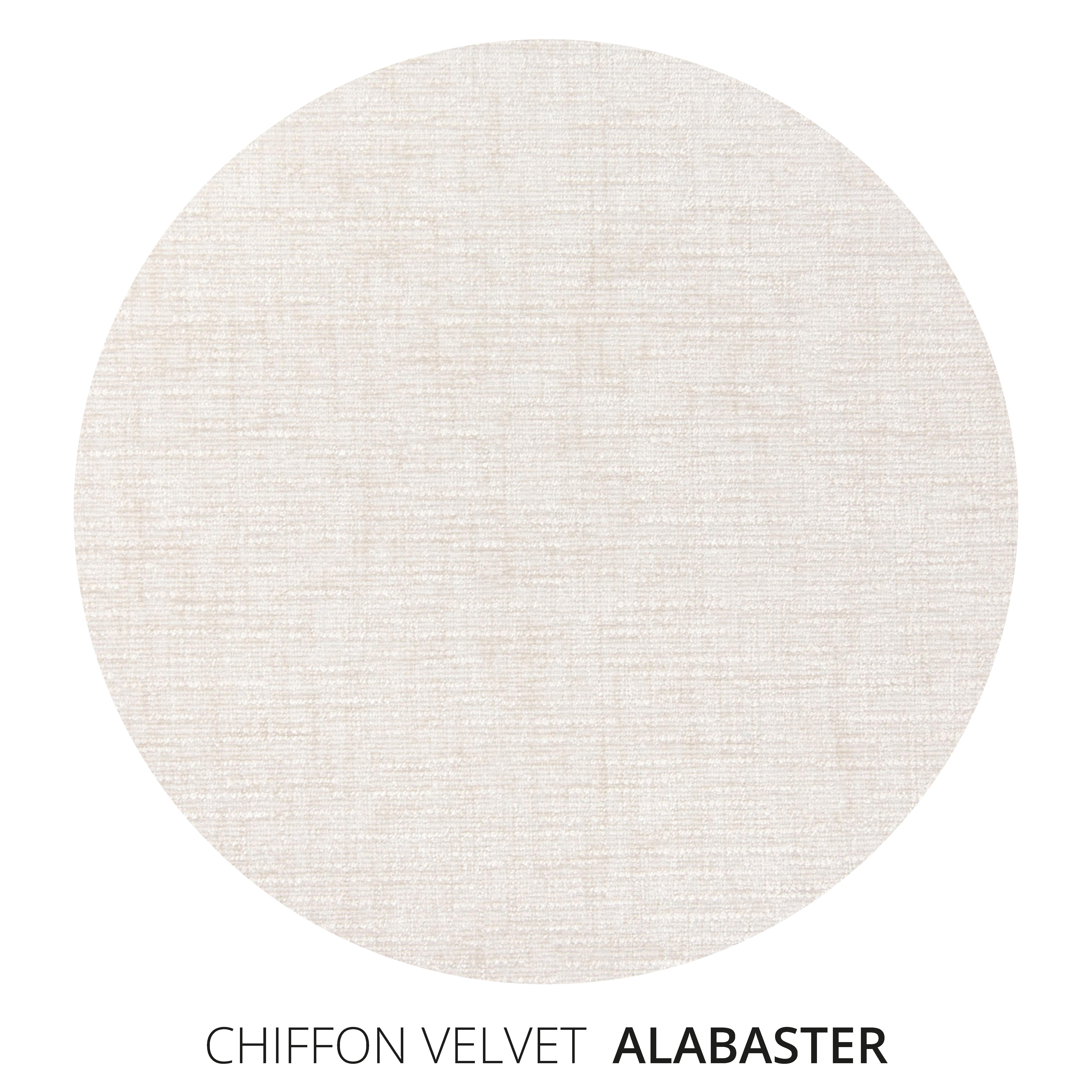 Alabaster Chiffon Velvet Swatch