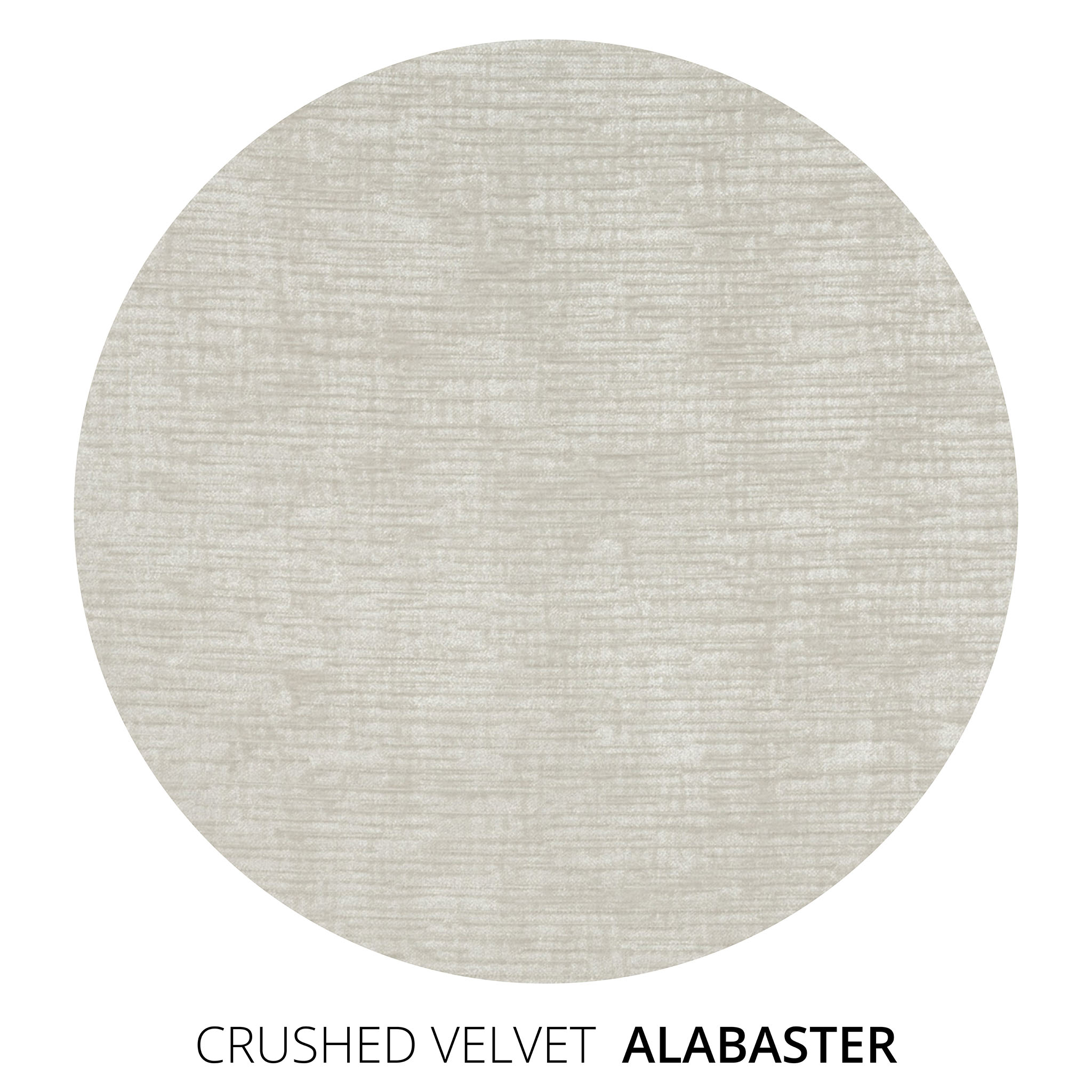 Alabaster Crushed Velvet Swatch