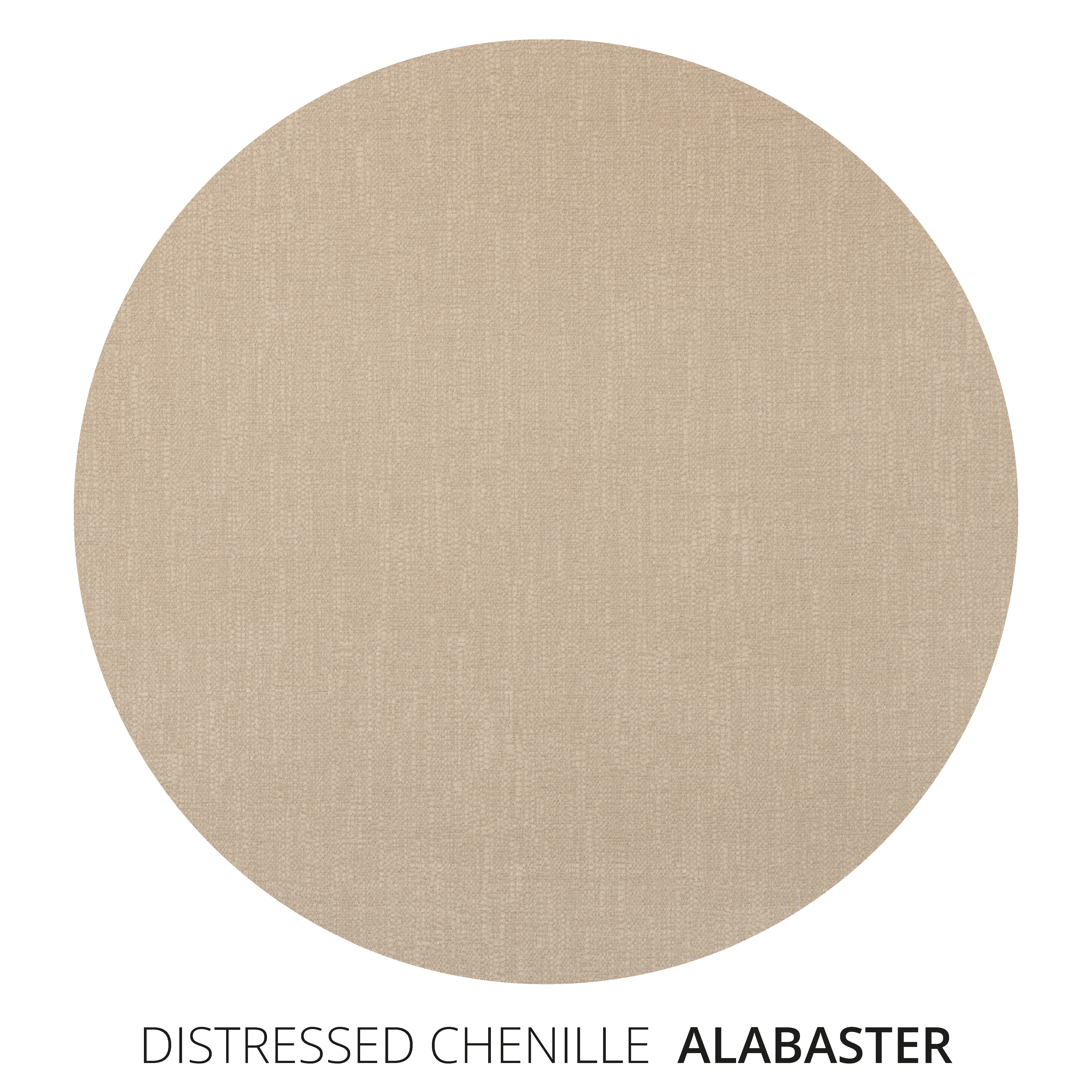 Alabaster Distressed Chenille Swatch