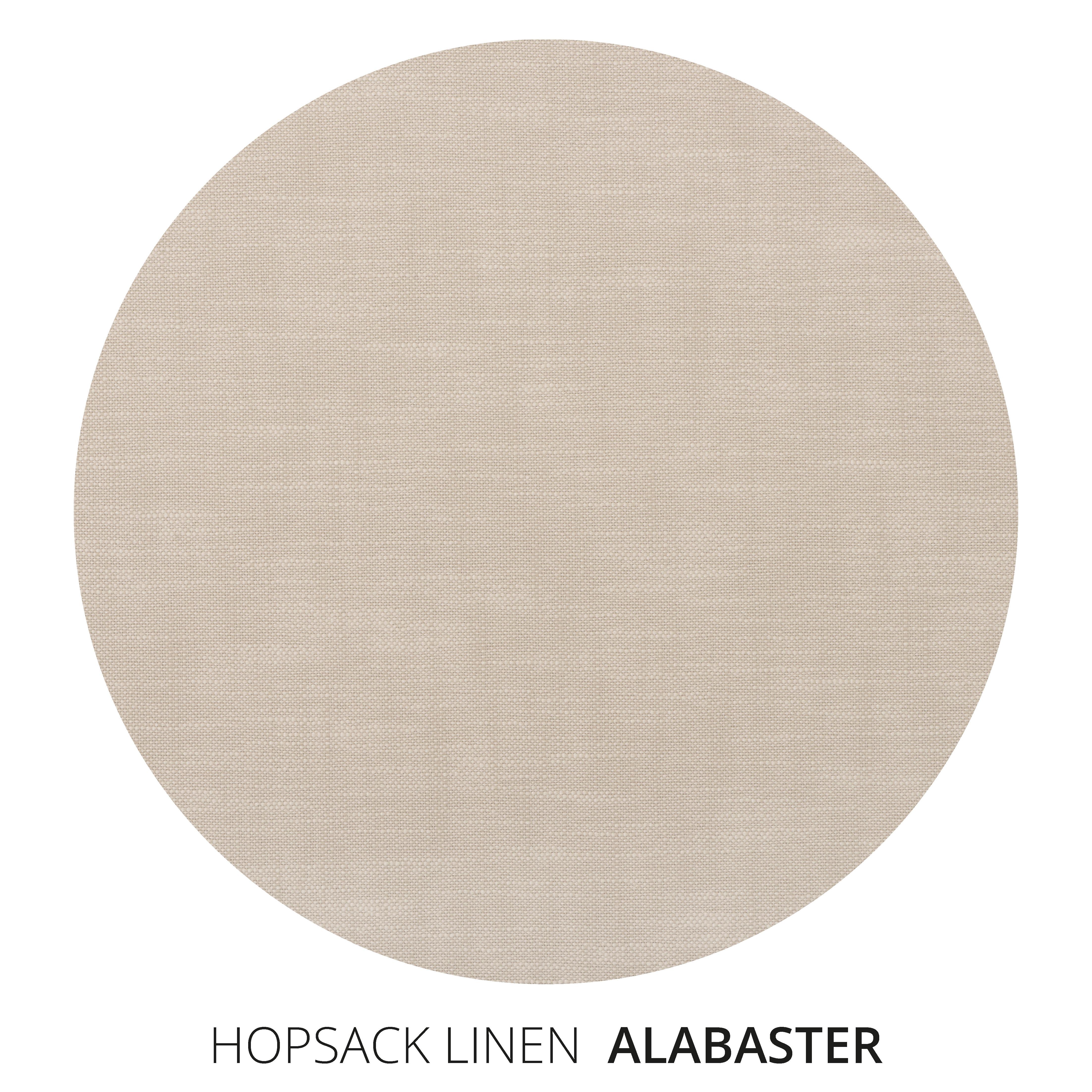 Alabaster Hopsack Linen Swatch