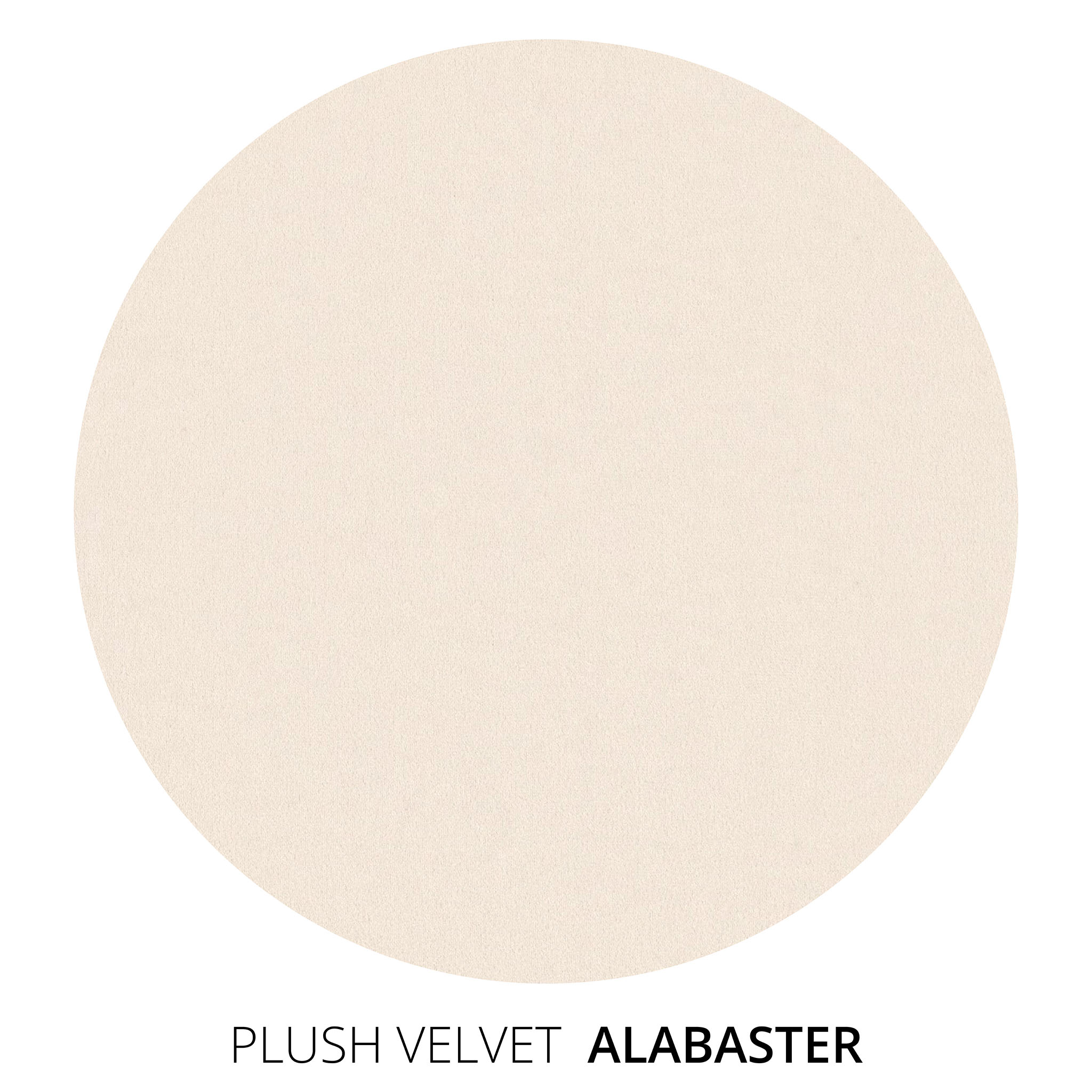 Alabaster Plush Velvet Swatch