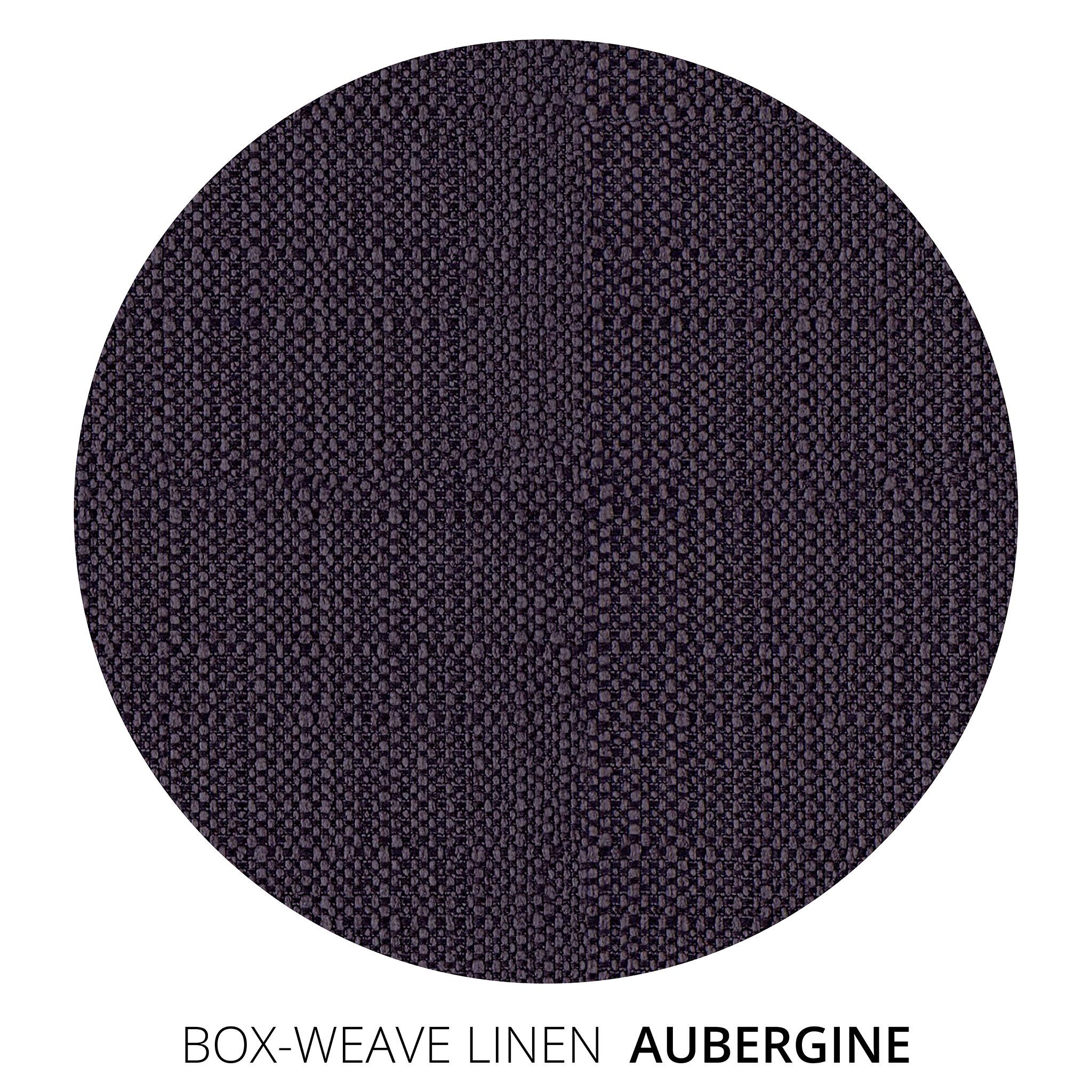 Aubergine Box Weave Linen Swatch