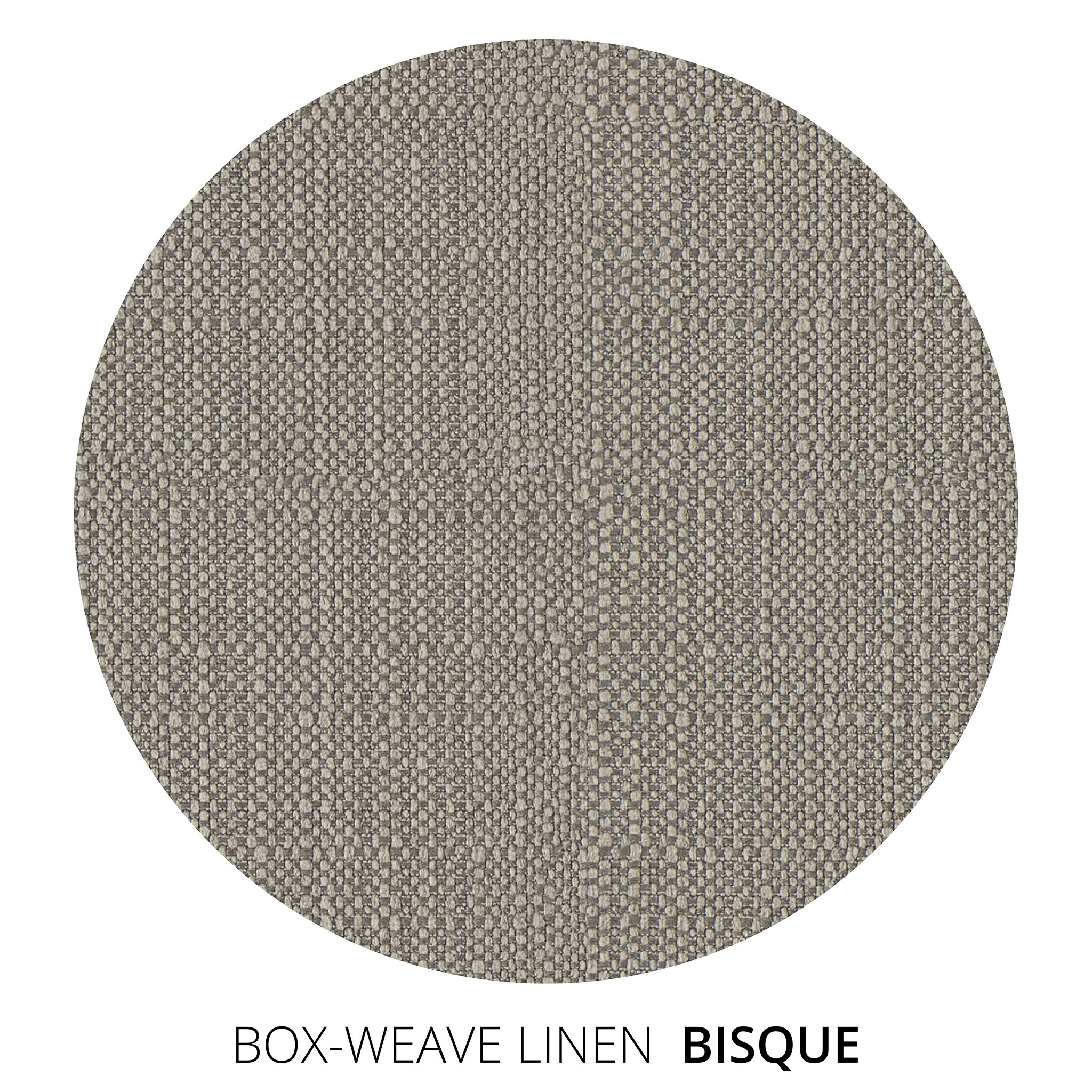 Bisque Box Weave Linen Swatch