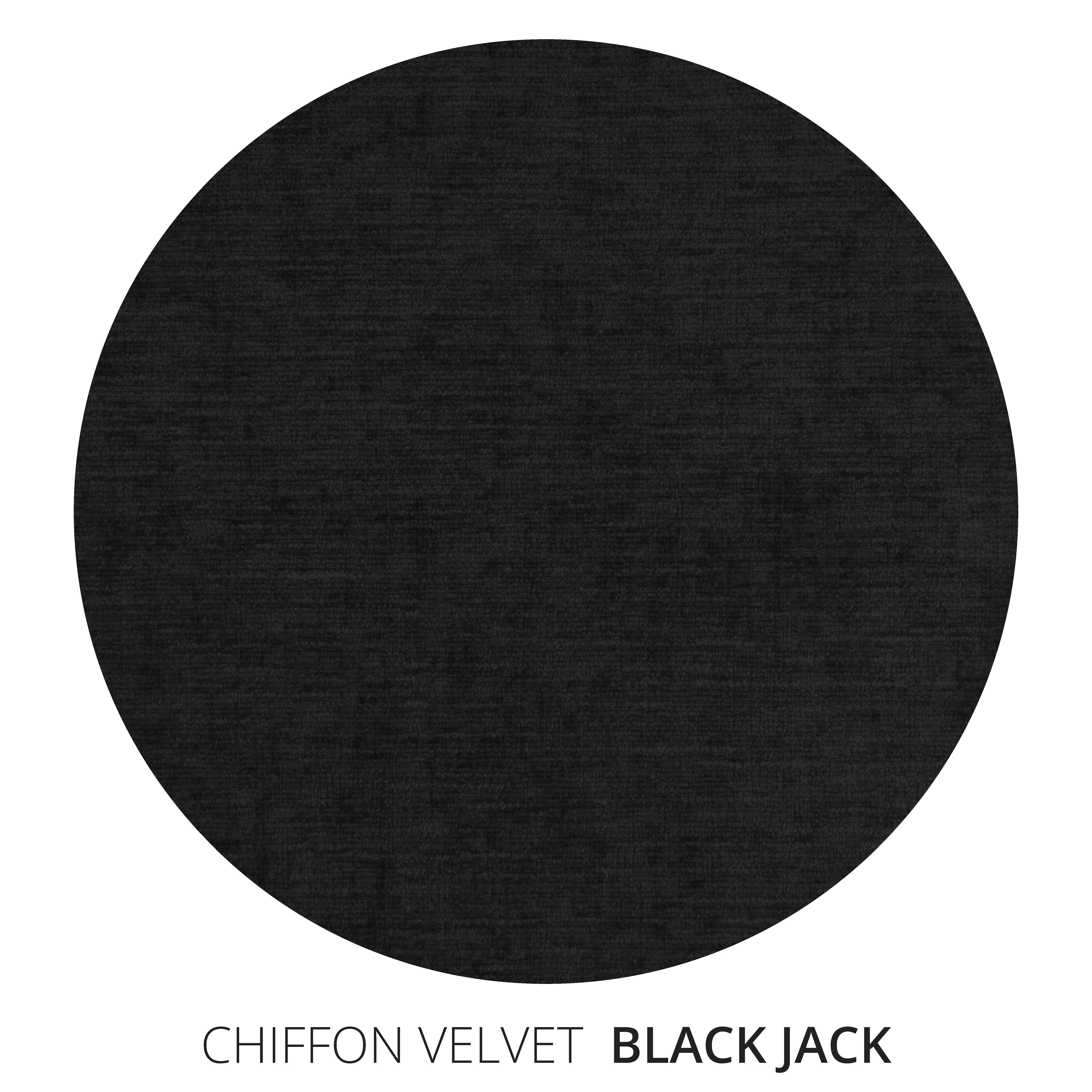Black Jack Chiffon Velvet Swatch