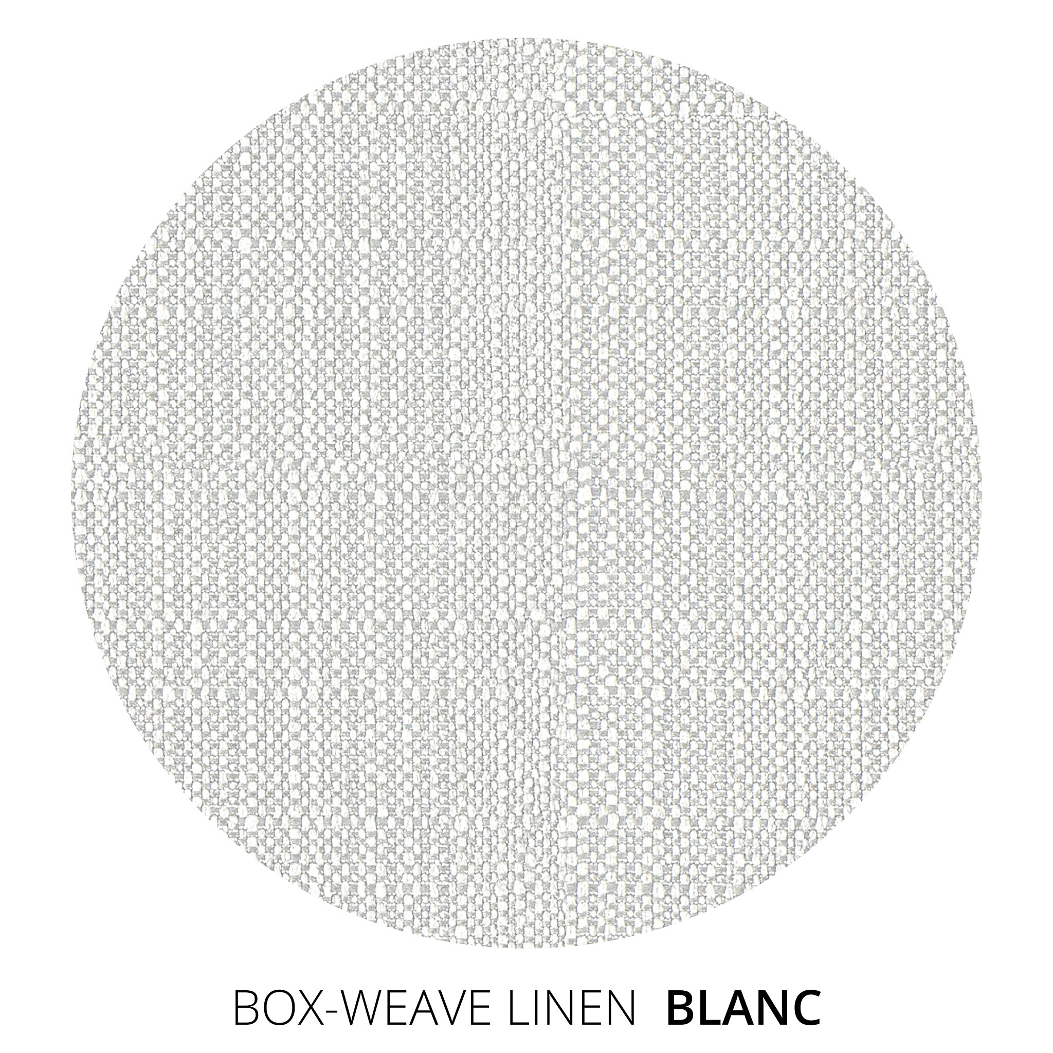 Blanc Box Weave Linen Swatch