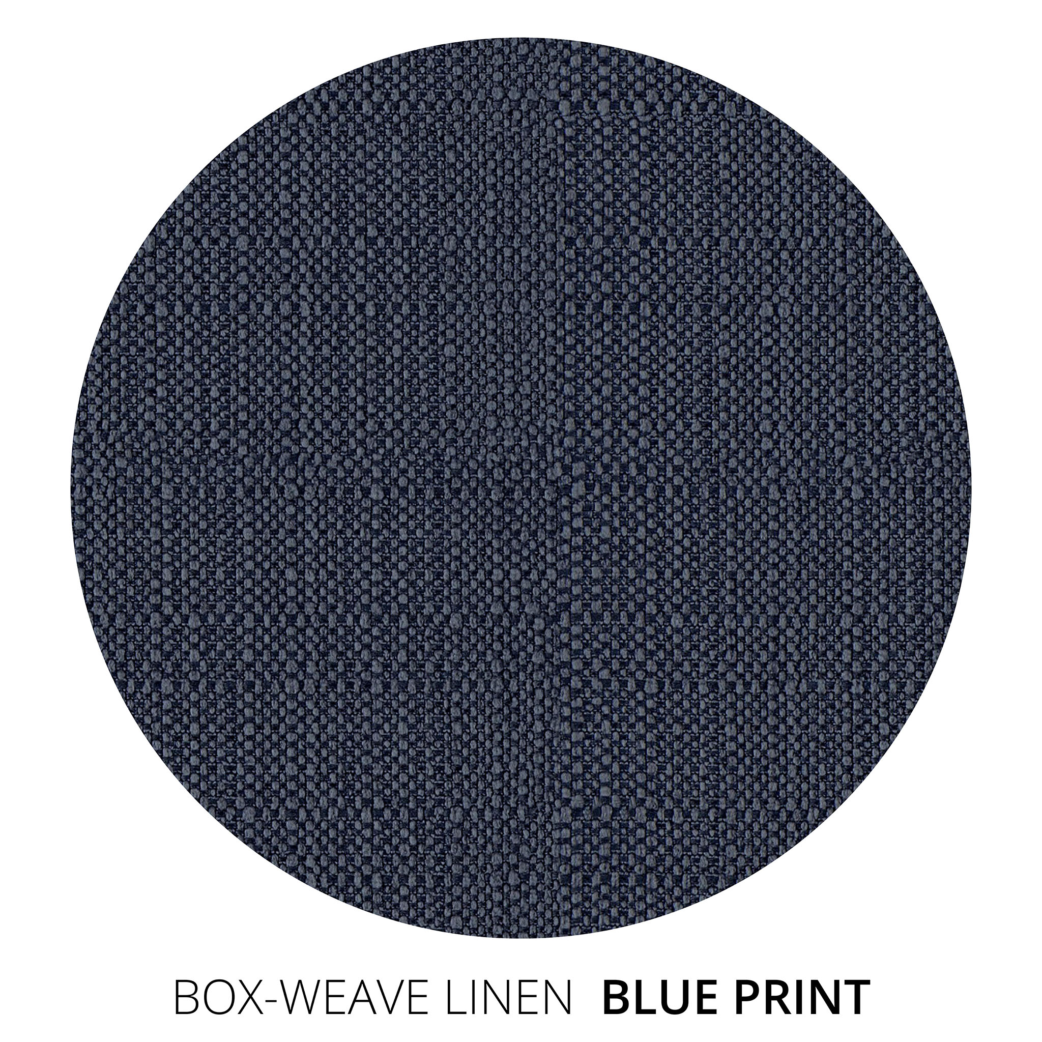 Blue Print Box Weave Linen Swatch