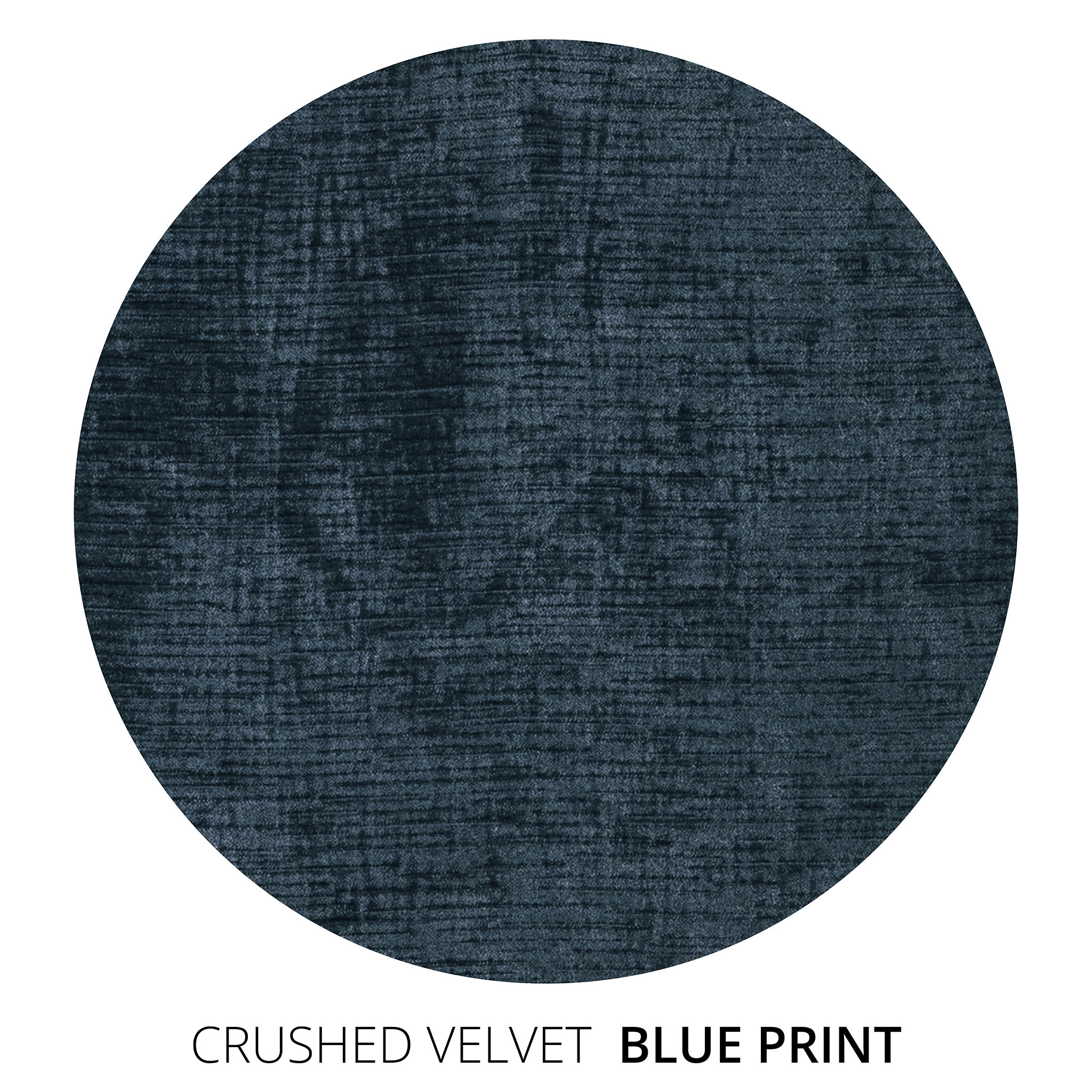 Blue Print Crushed Velvet Swatch