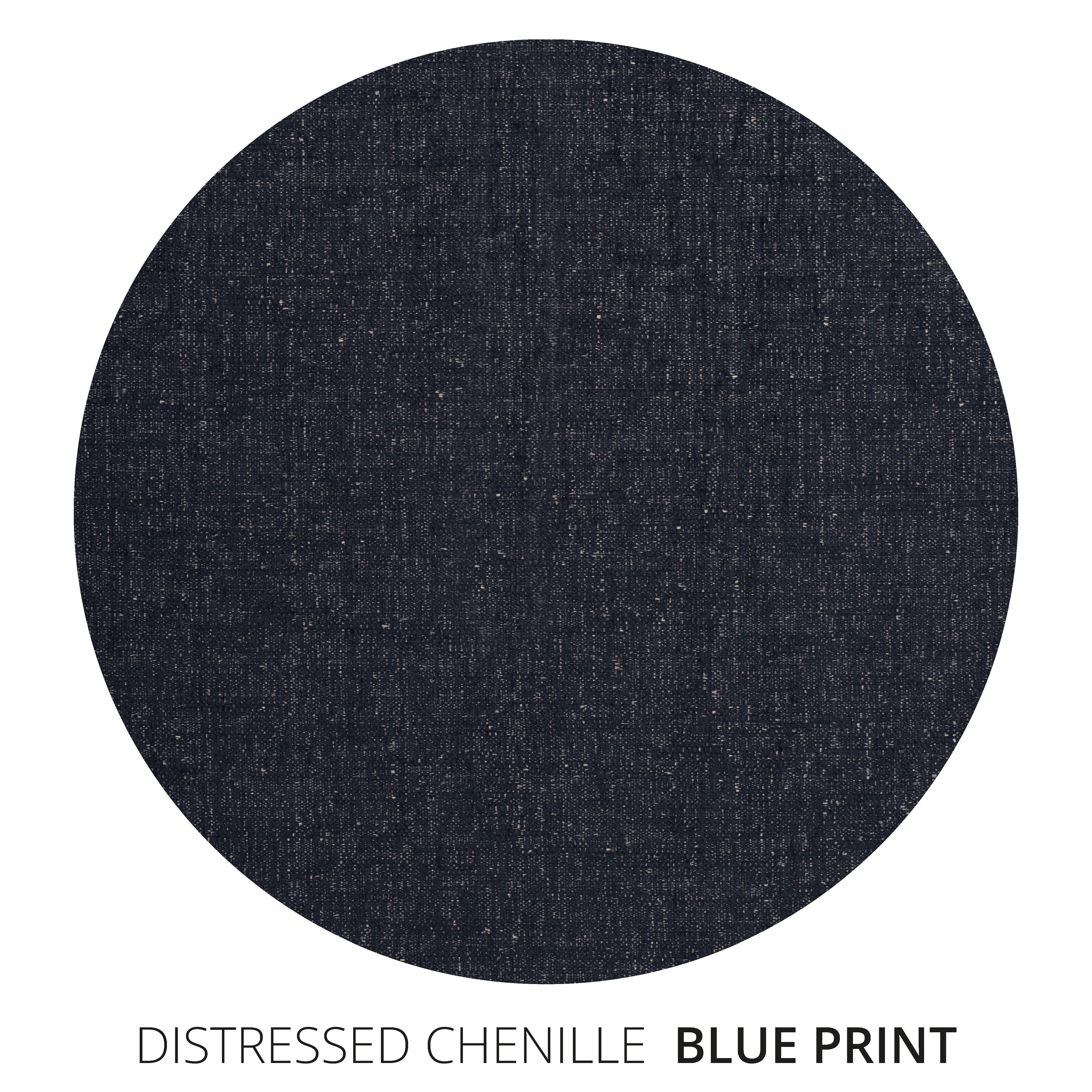 Blue Print Distressed Chenille Swatch