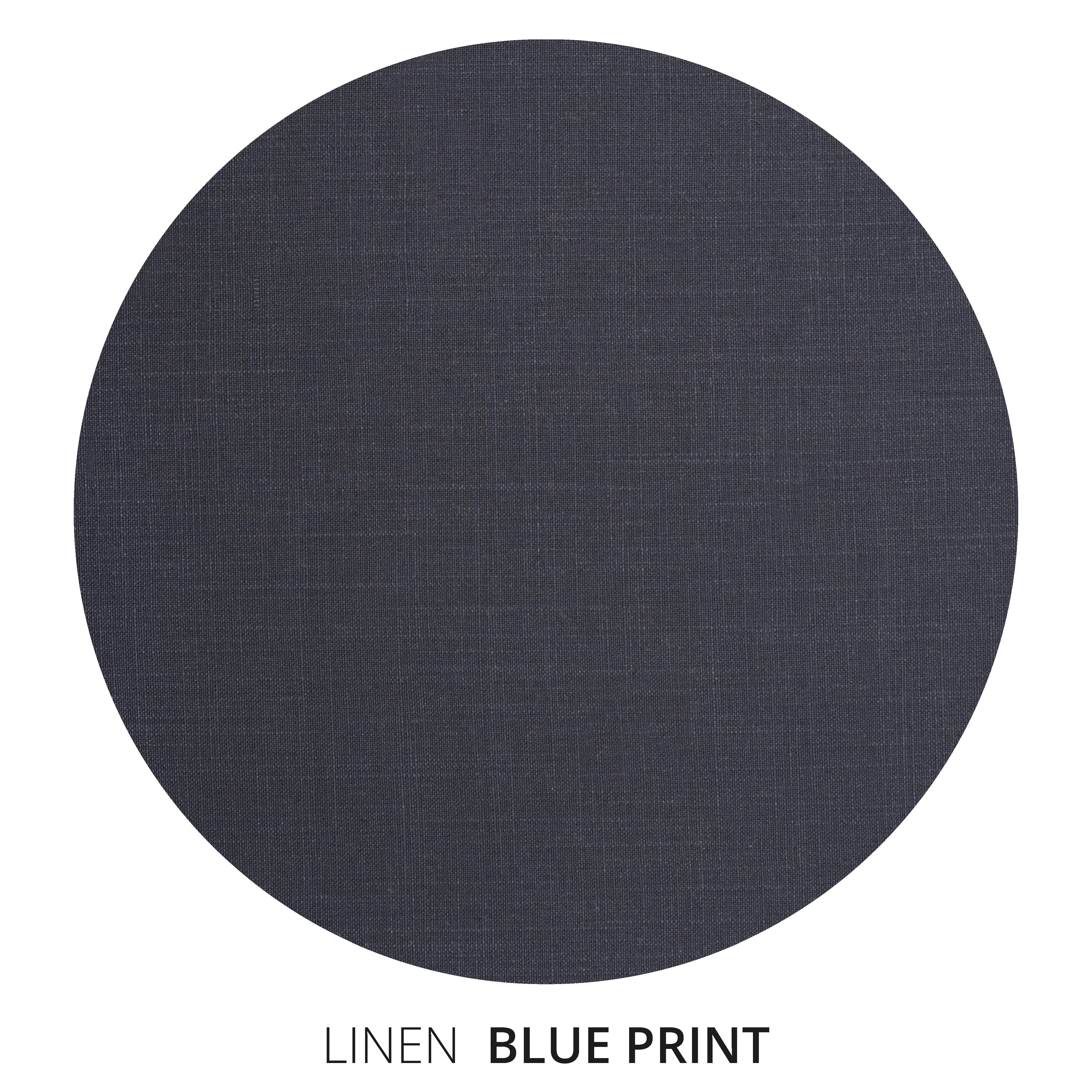 Blue Print Linen Swatch