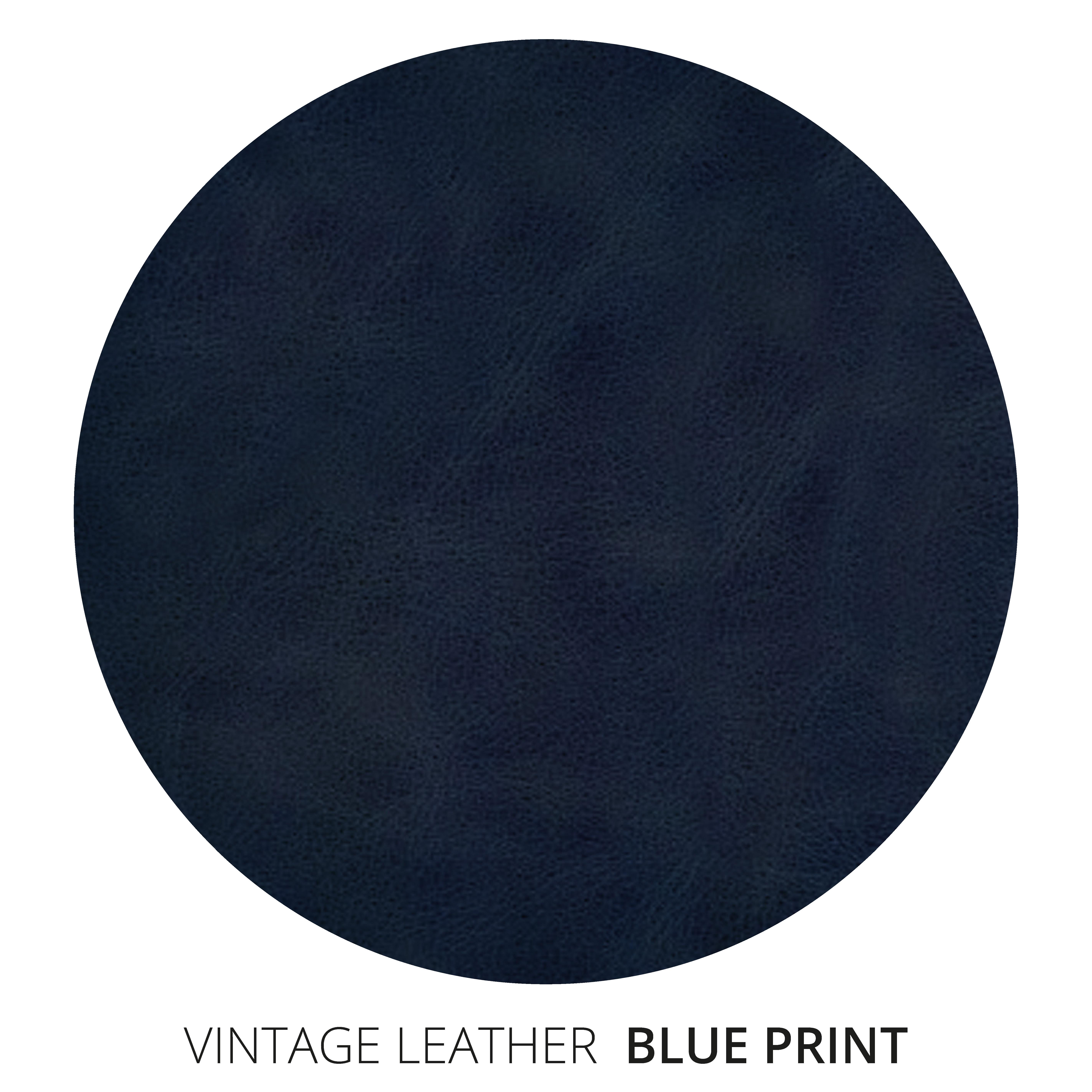 Blue Print Vintage Leather Swatch