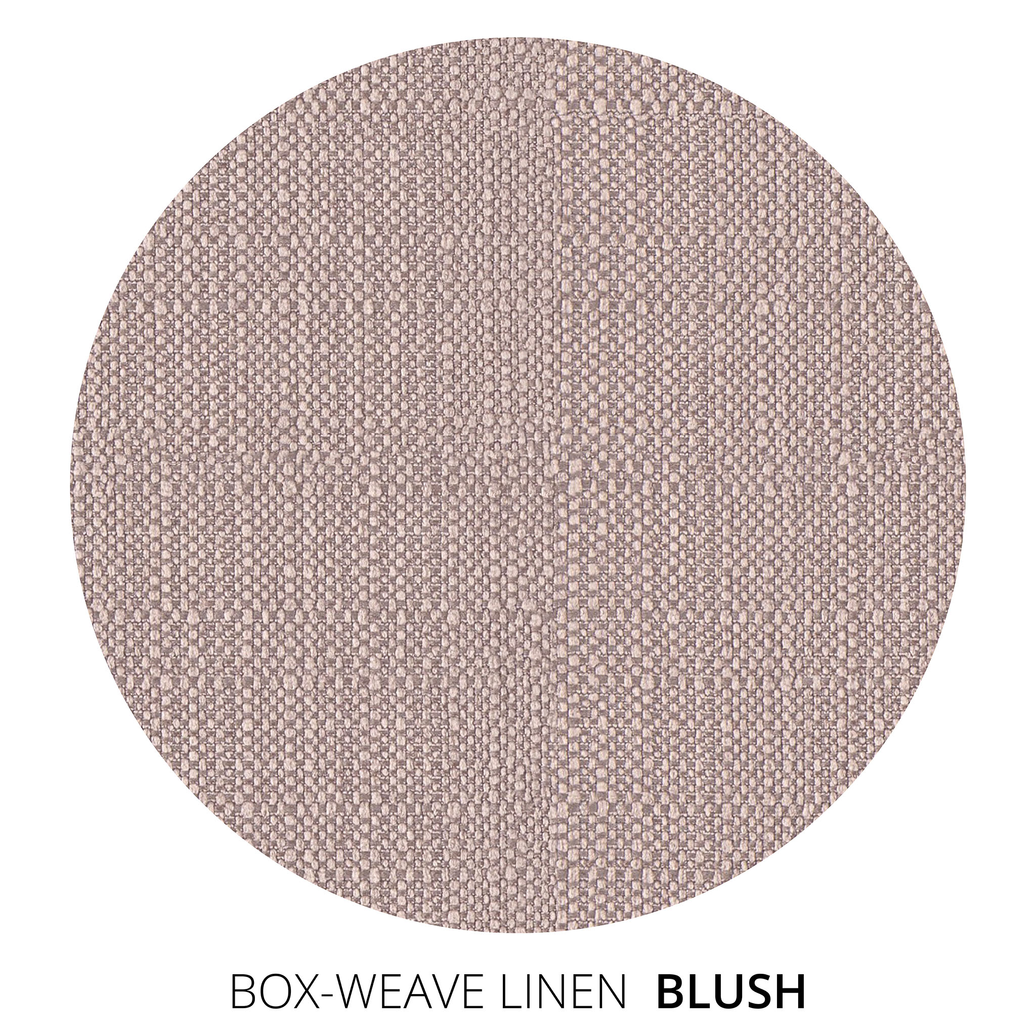 Blush Box Weave Linen Swatch