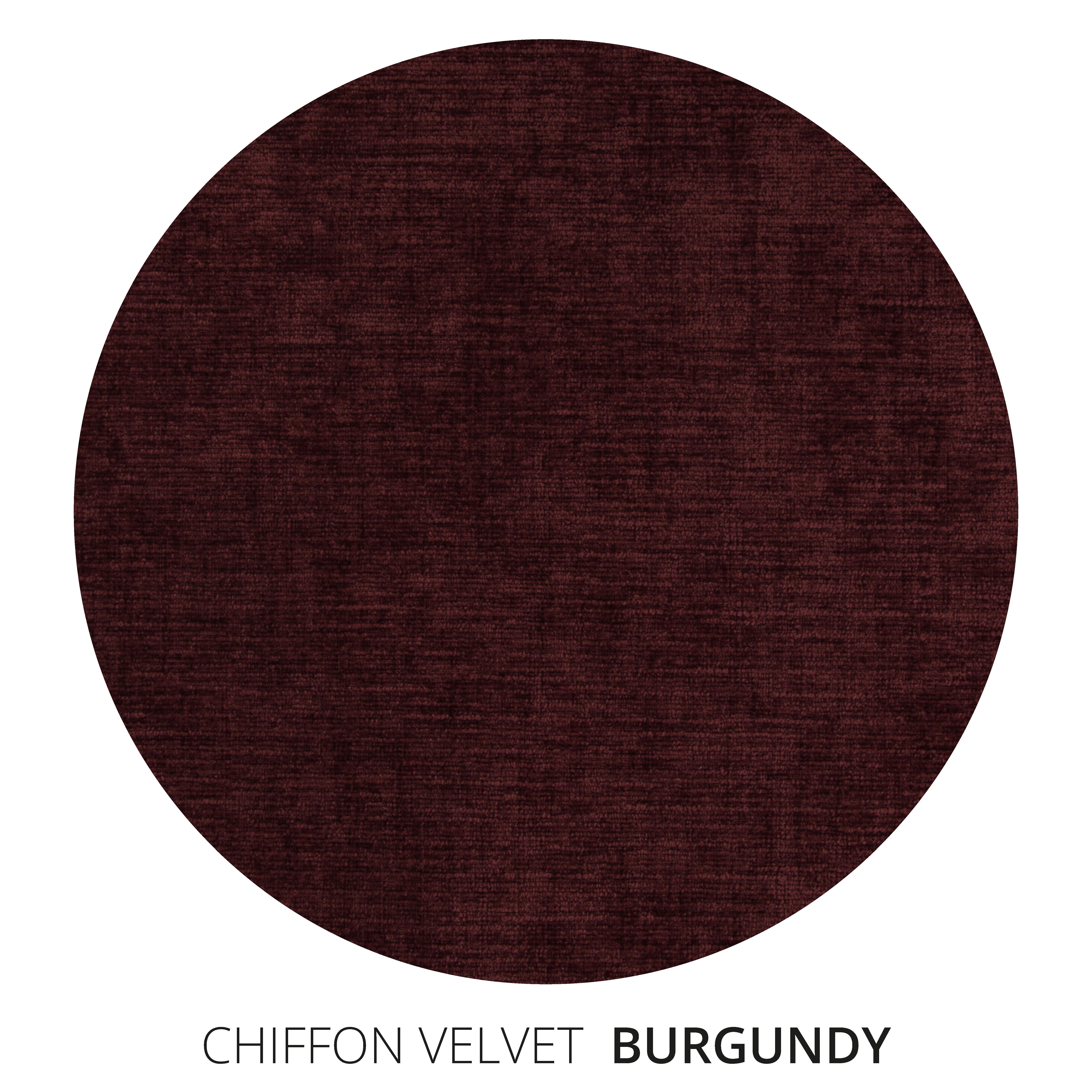 Burgundy Chiffon Velvet Swatch