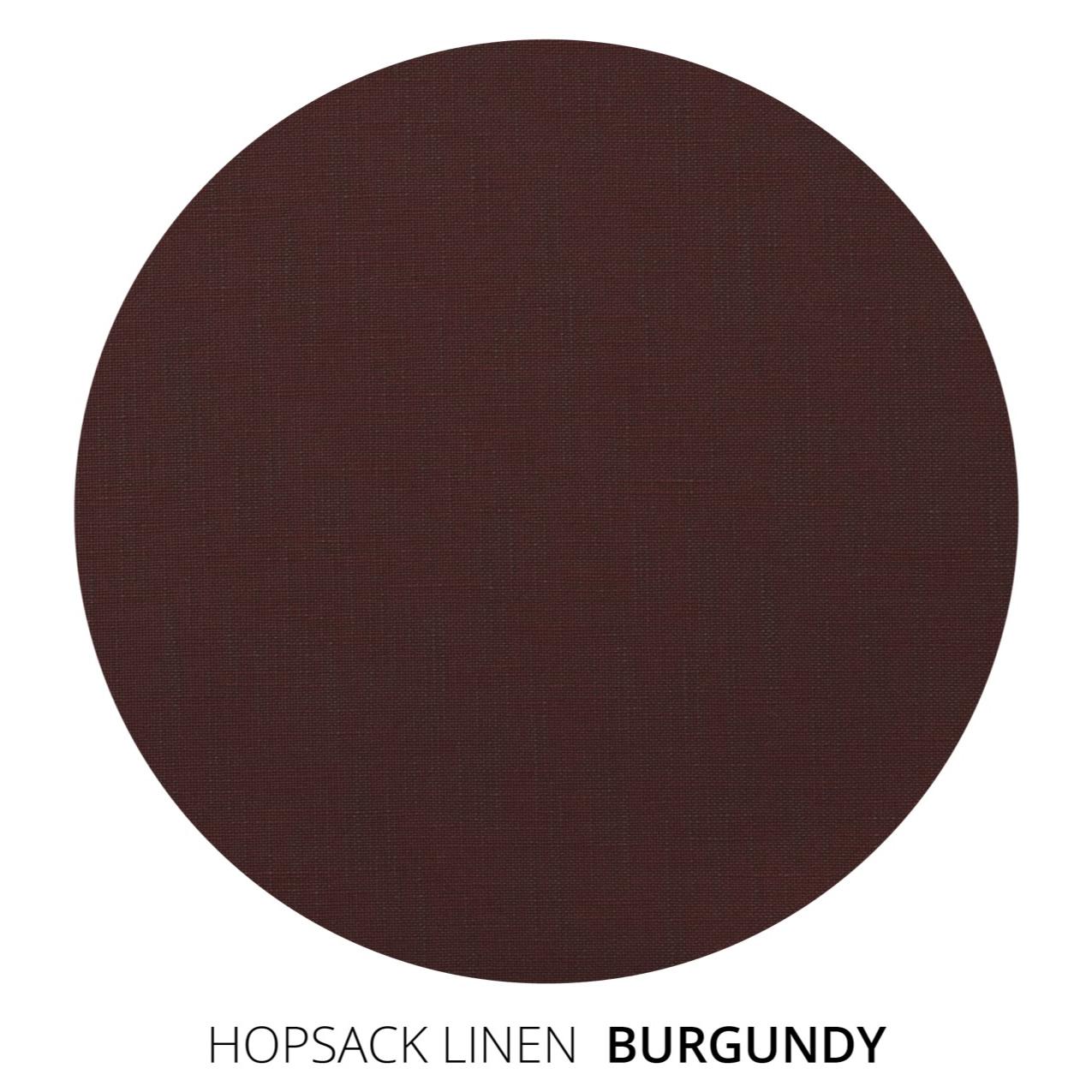 Burgundy Hopsack Linen Swatch