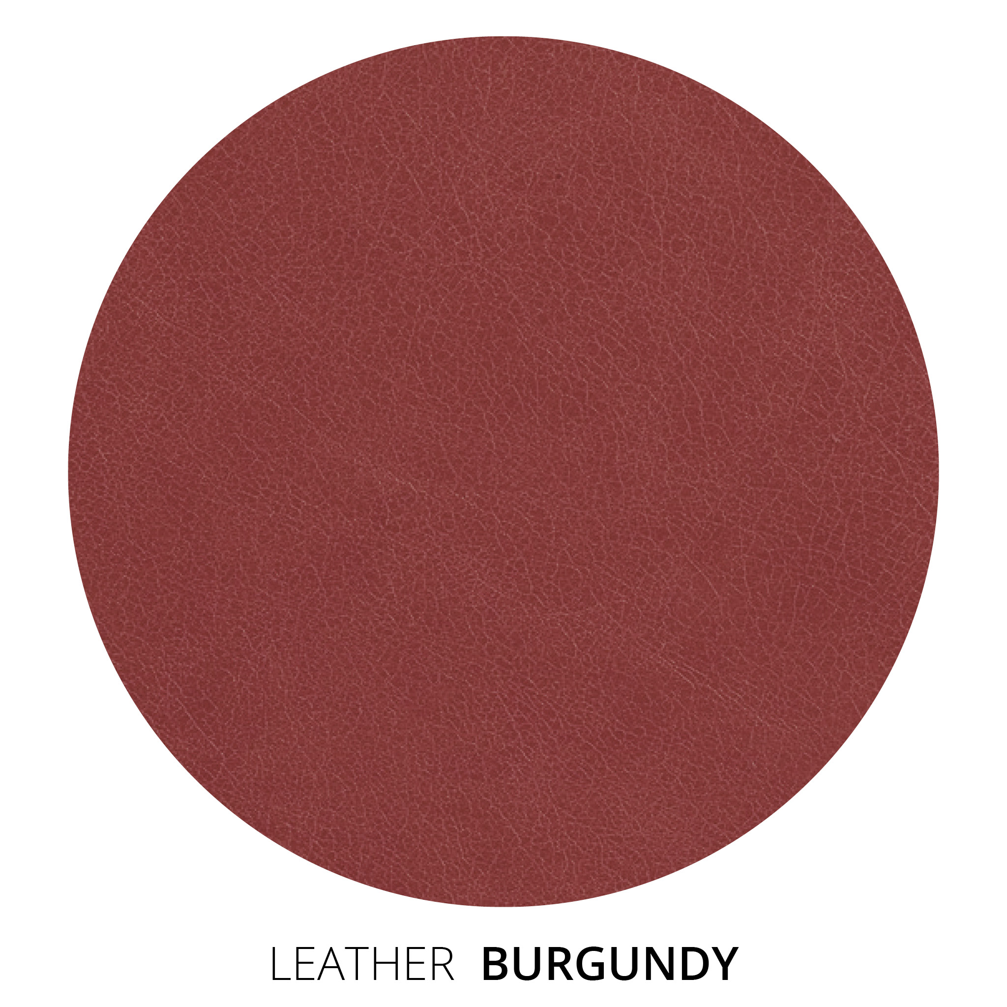 Burgundy Leather Swatch