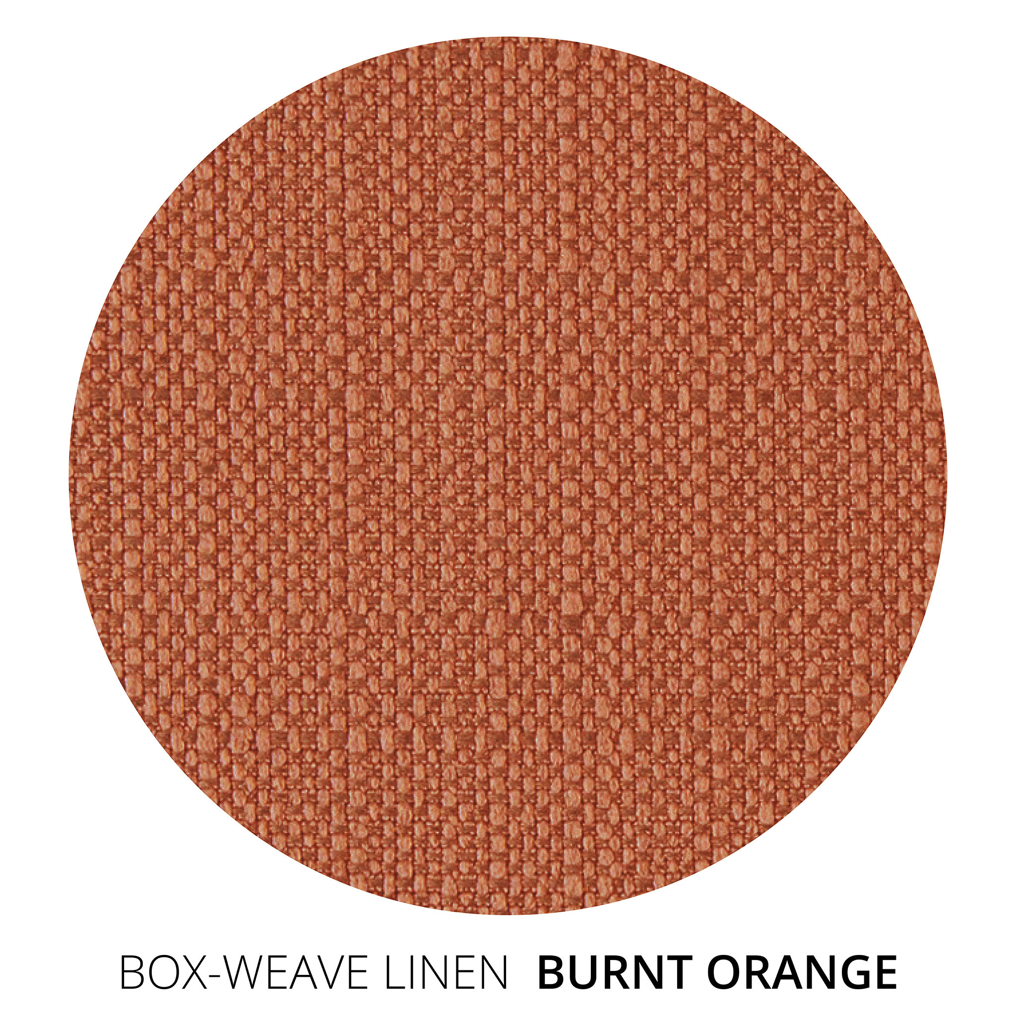Burnt Orange Box Weave Linen Swatch