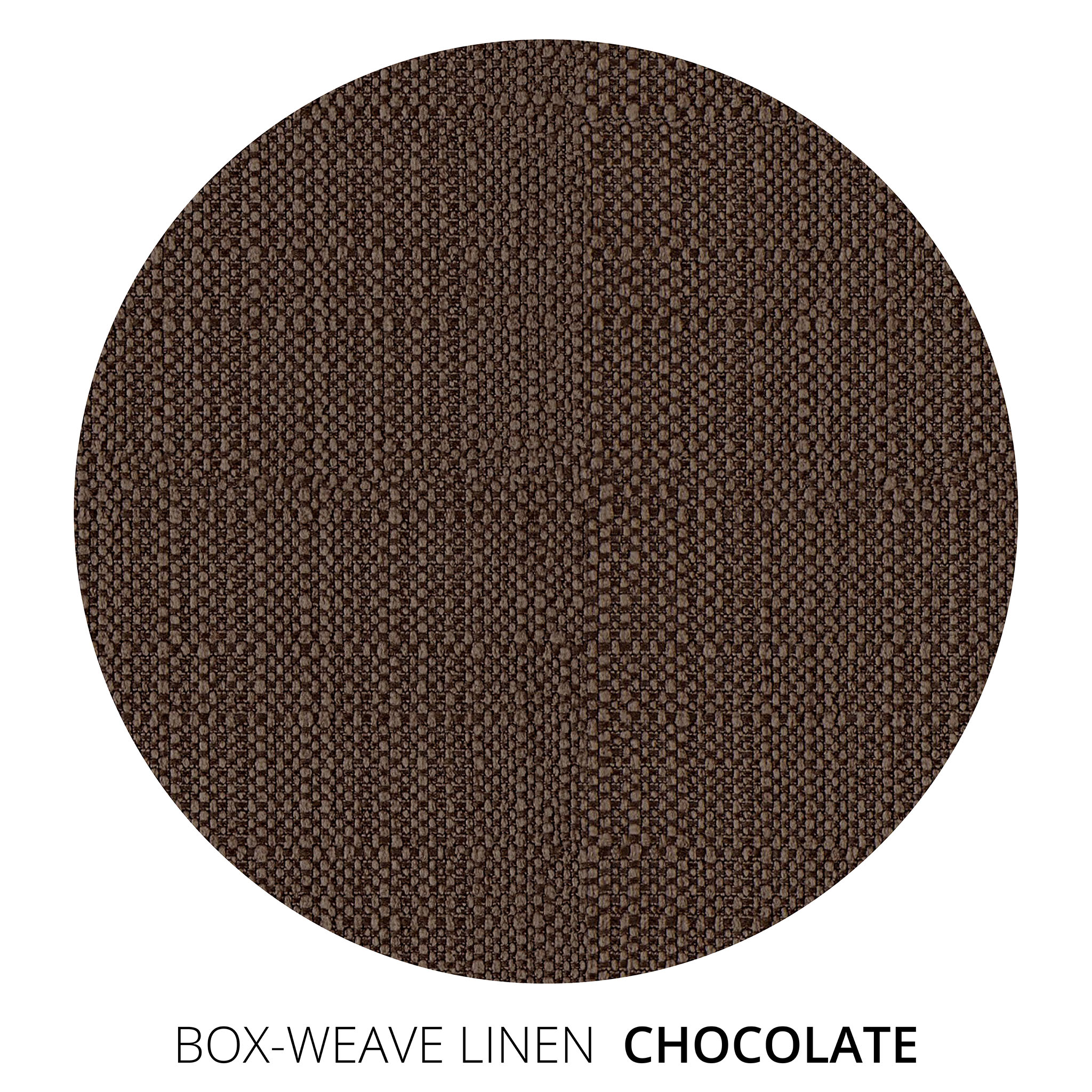 Chocolate Box Weave Linen Swatch