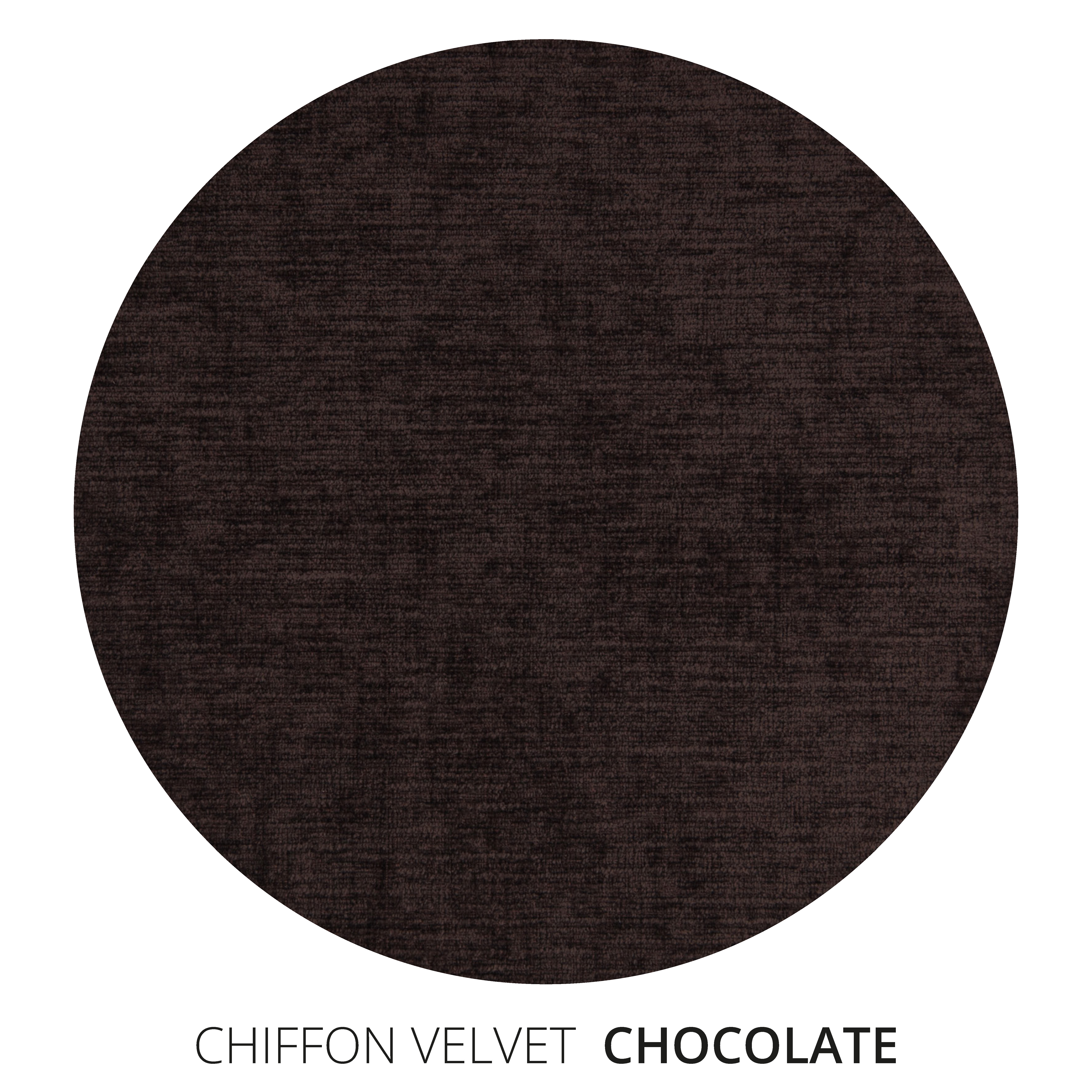 Chocolate Chiffon Velvet Swatch