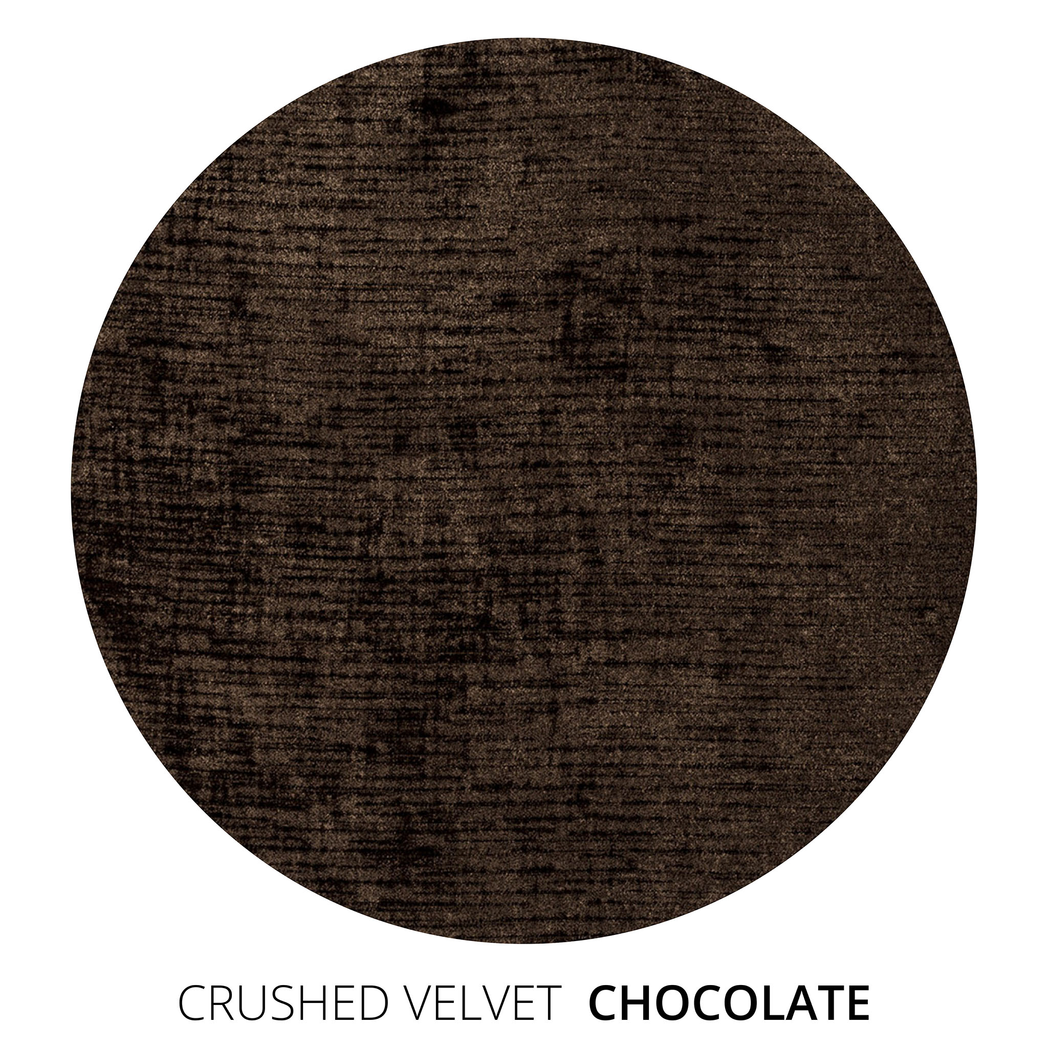 Chocolate Crushed Velvet Swatch