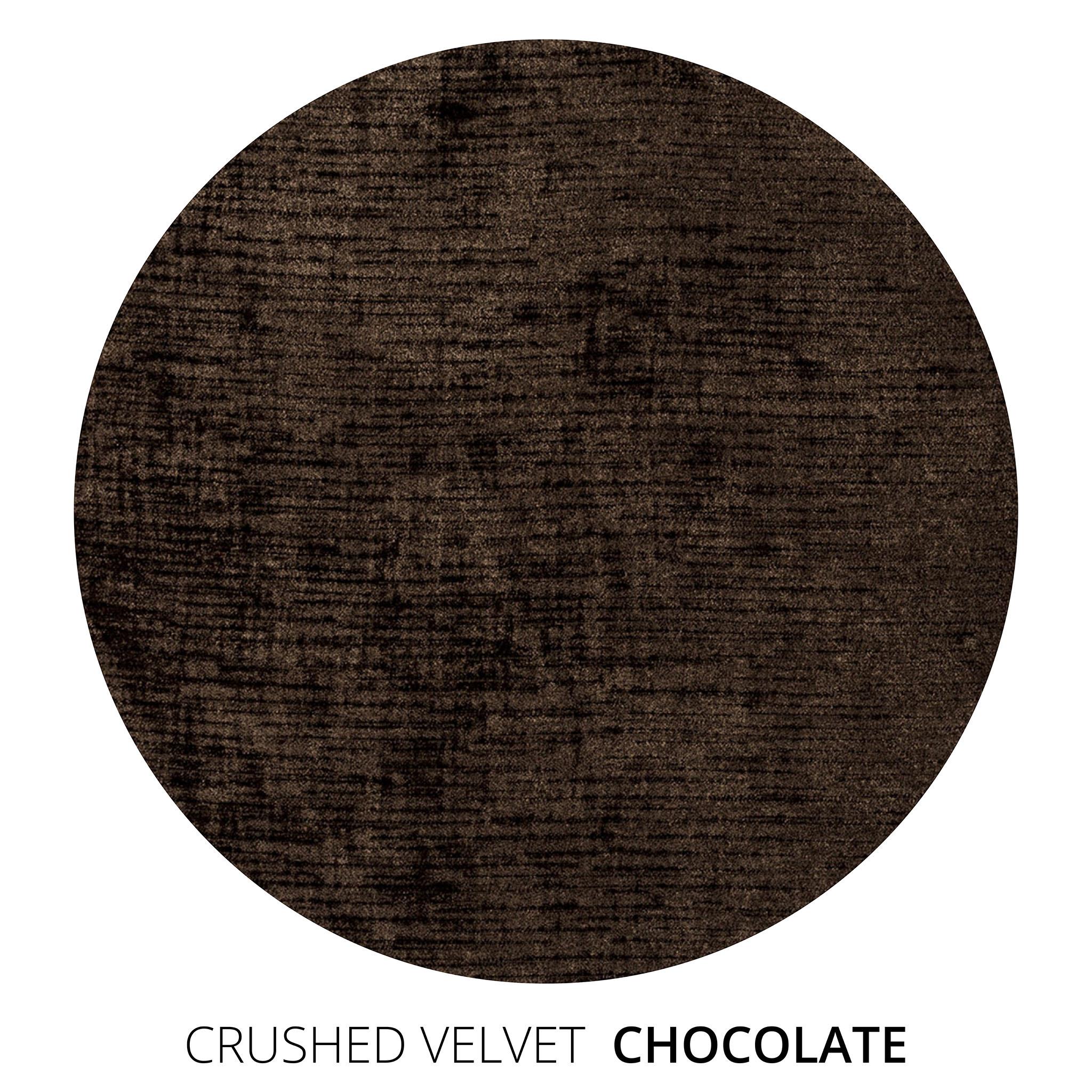 Chocolate Crushed Velvet Swatch