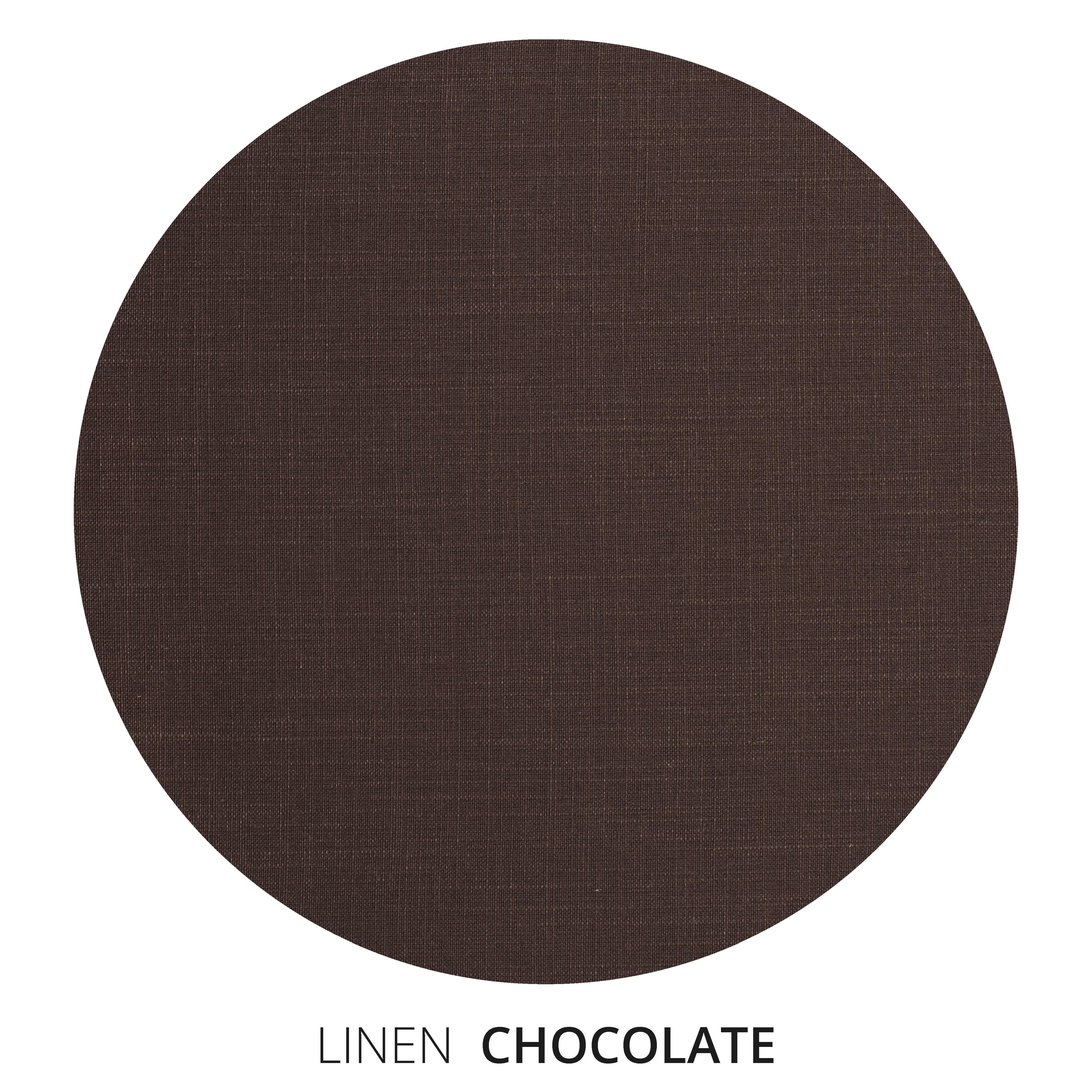 Chocolate Linen Swatch