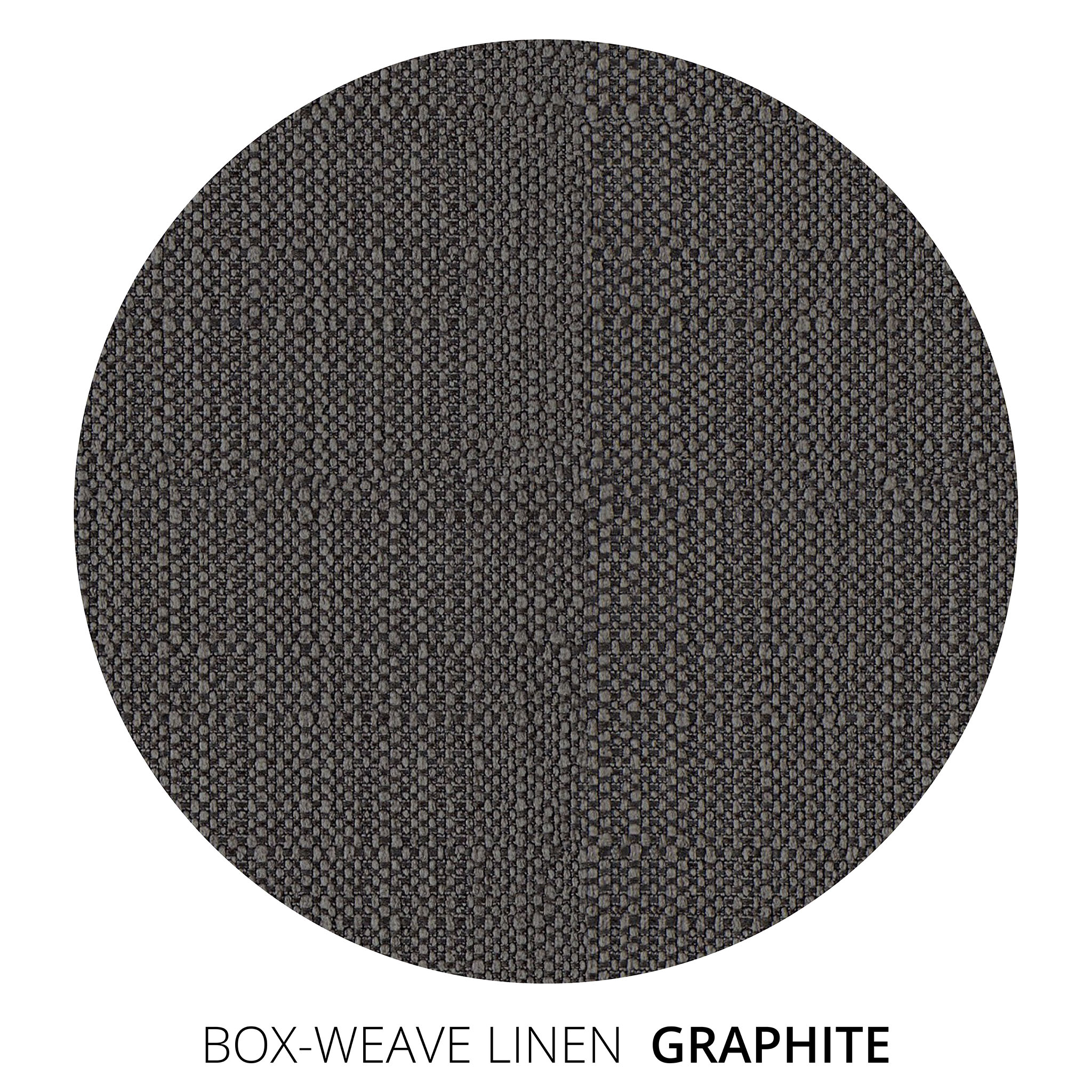 Graphite Box Weave Linen Swatch