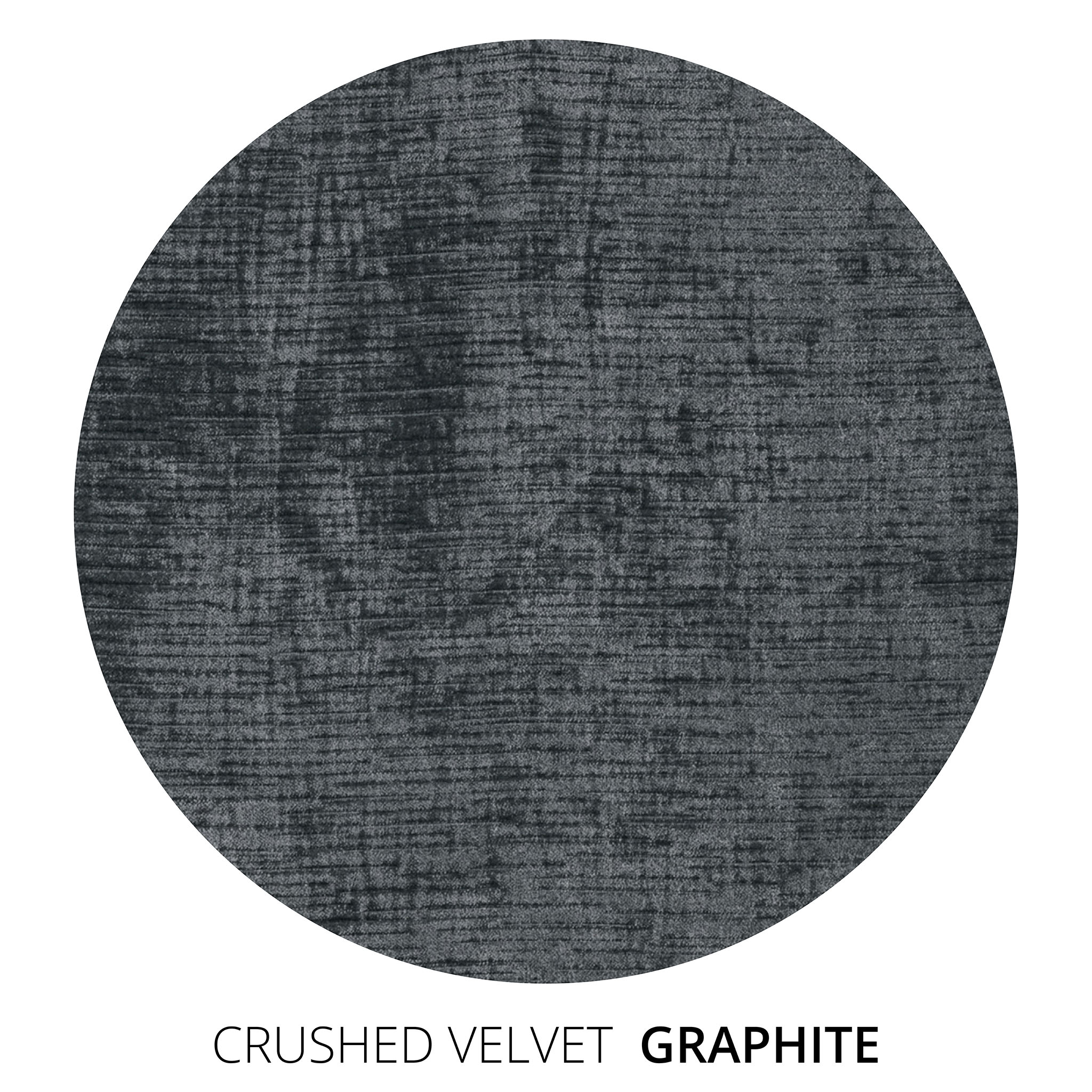 Graphite Crushed Velvet Swatch