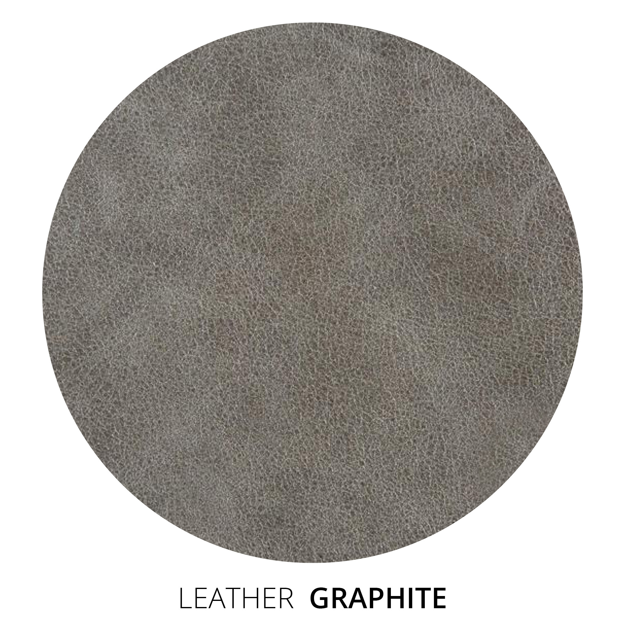 Graphite Leather Swatch