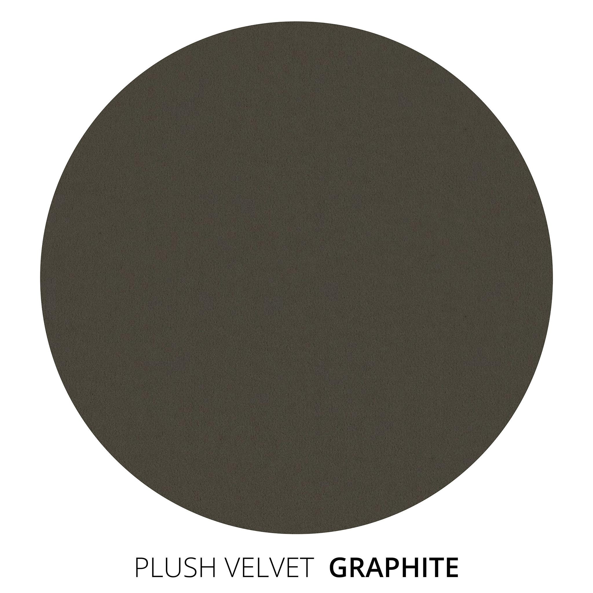 Graphite Plush Velvet Swatch