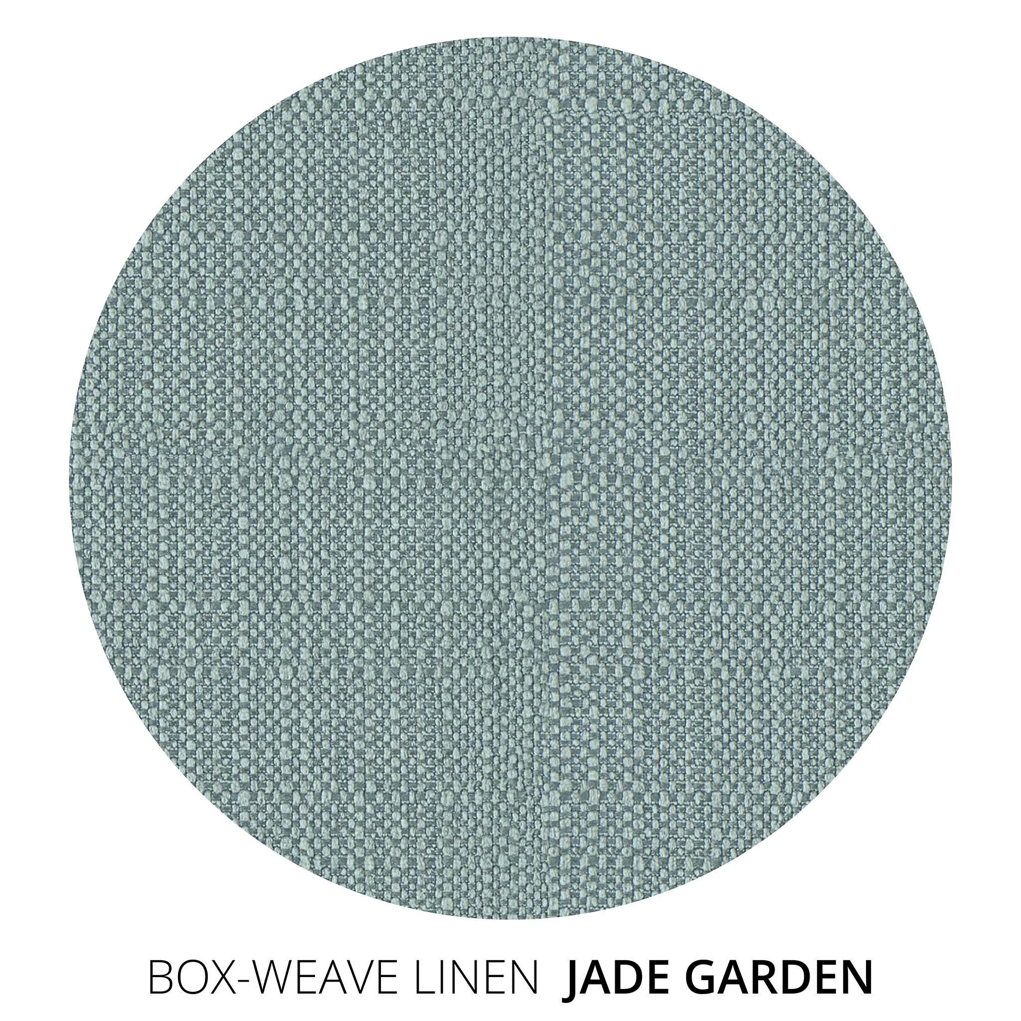 Jade Garden Box Weave Linen Swatch