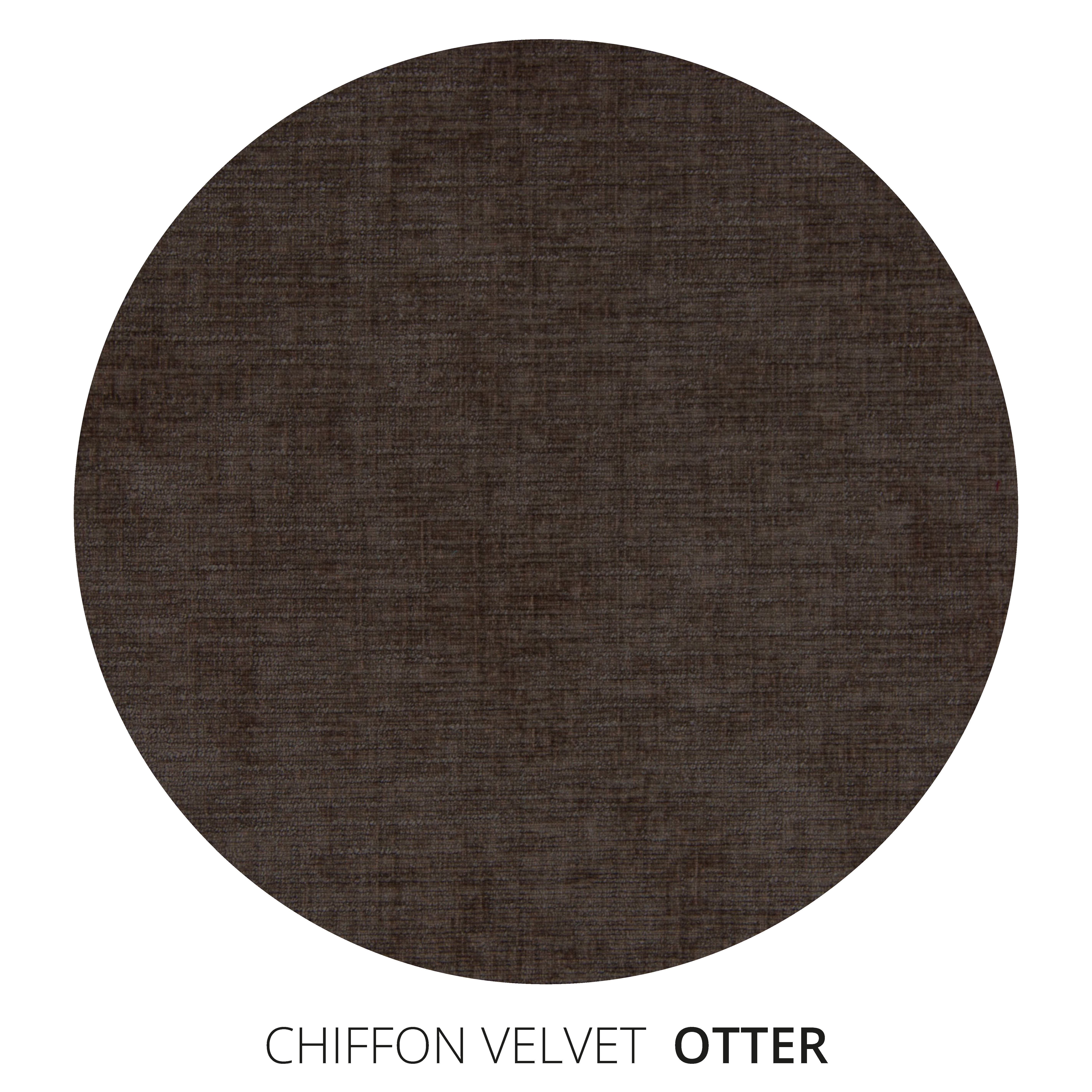 Otter Chiffon Velvet Swatch