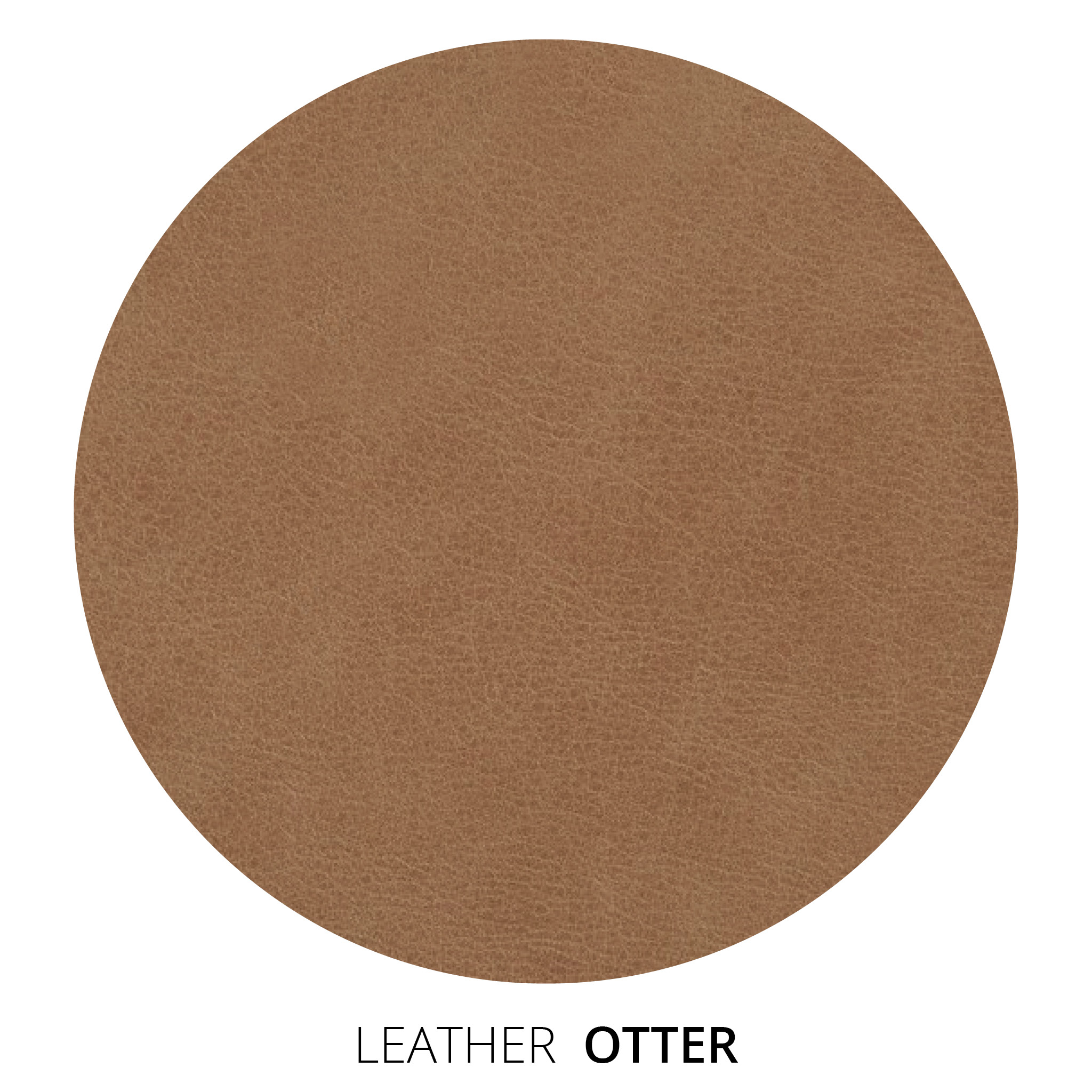Otter Leather Swatch
