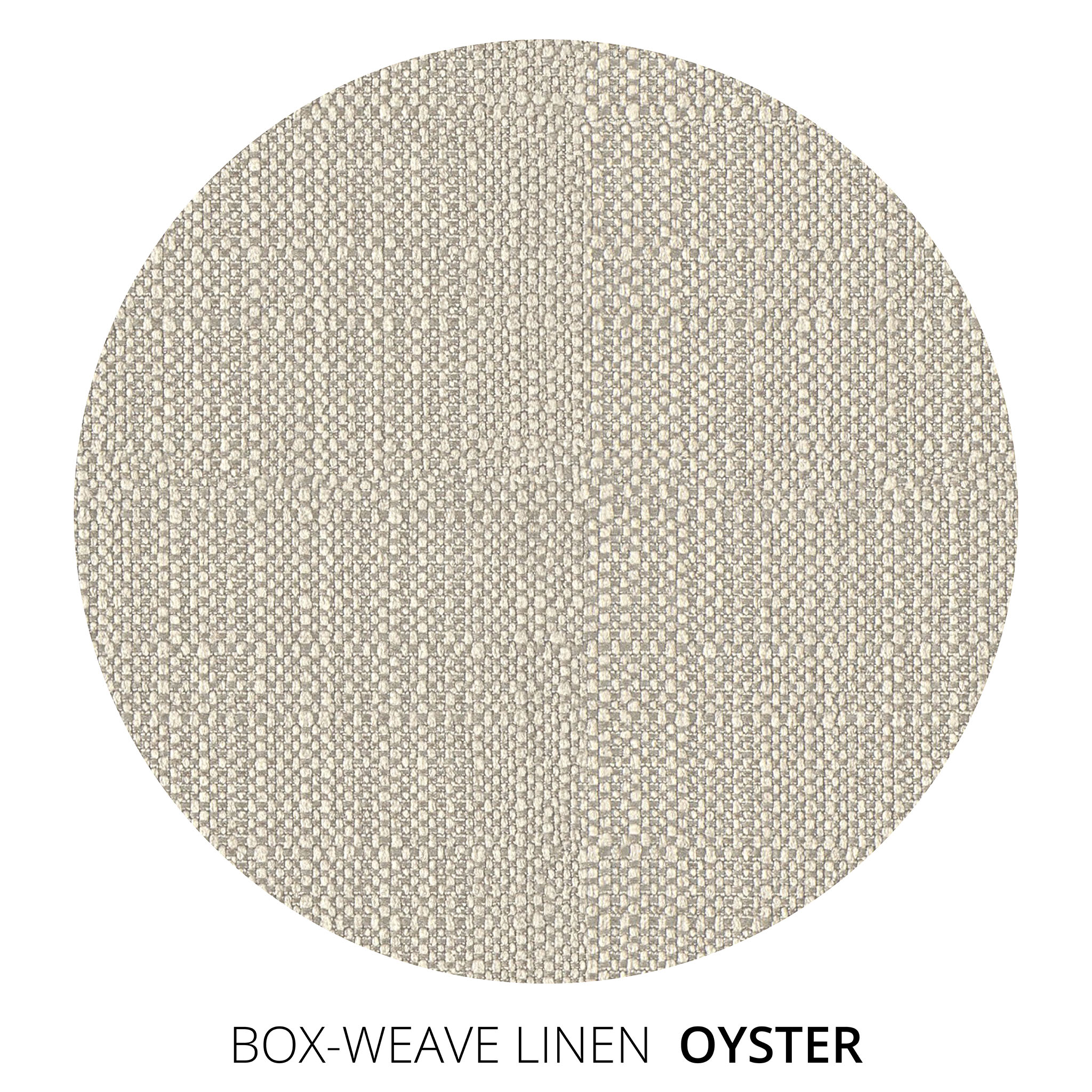 Oyster Box Weave Linen Swatch