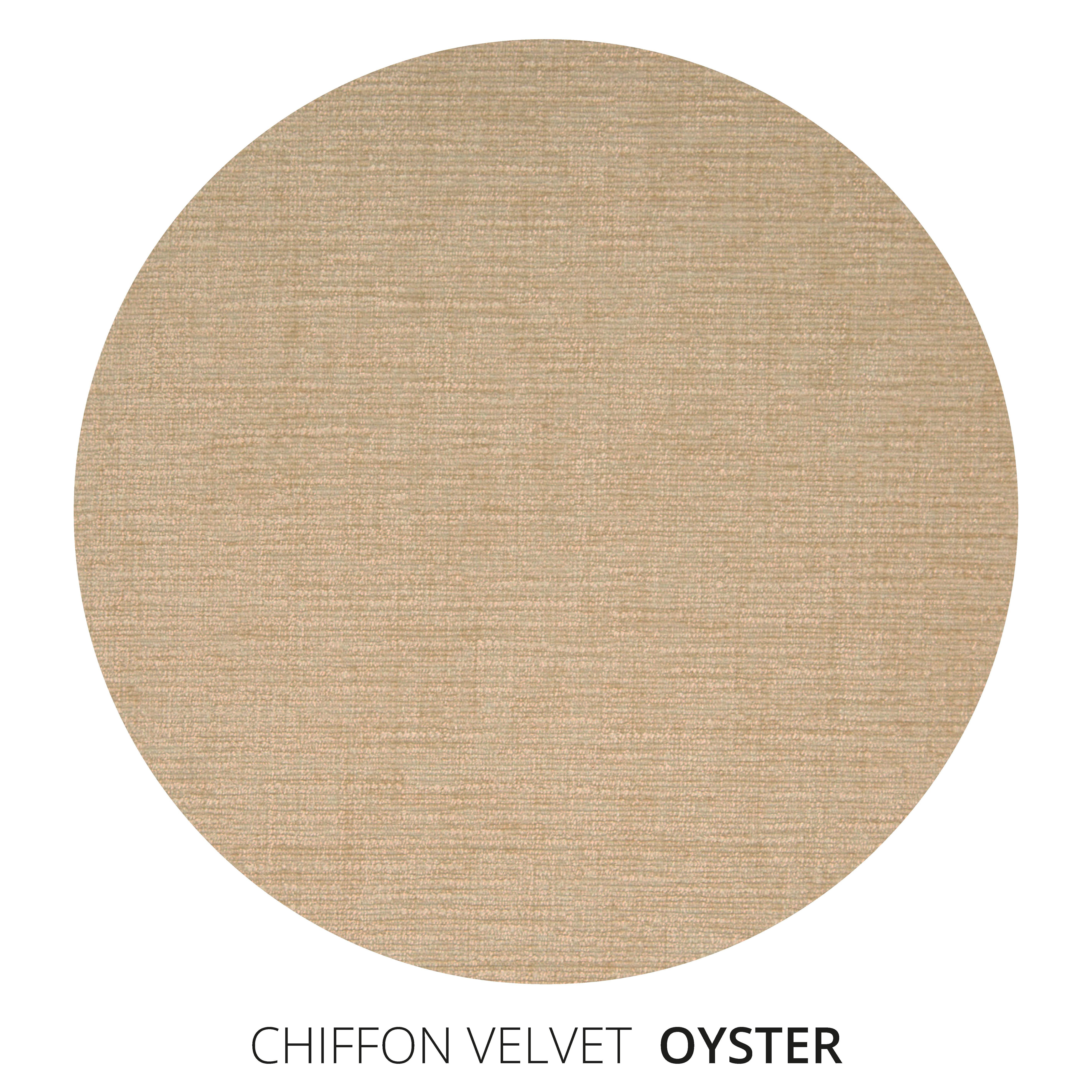Oyster Chiffon Velvet Swatch