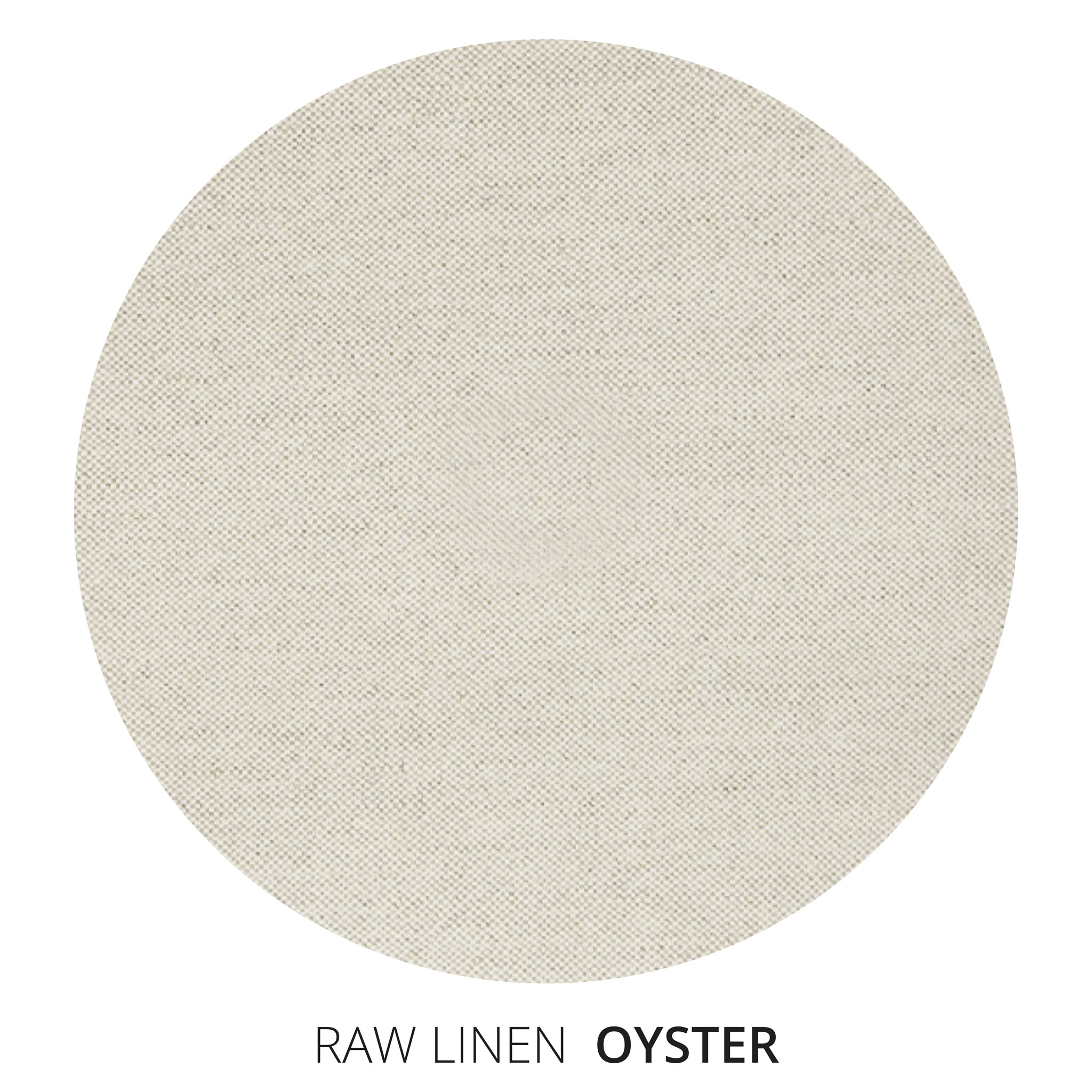 Oyster Raw Linen Swatch