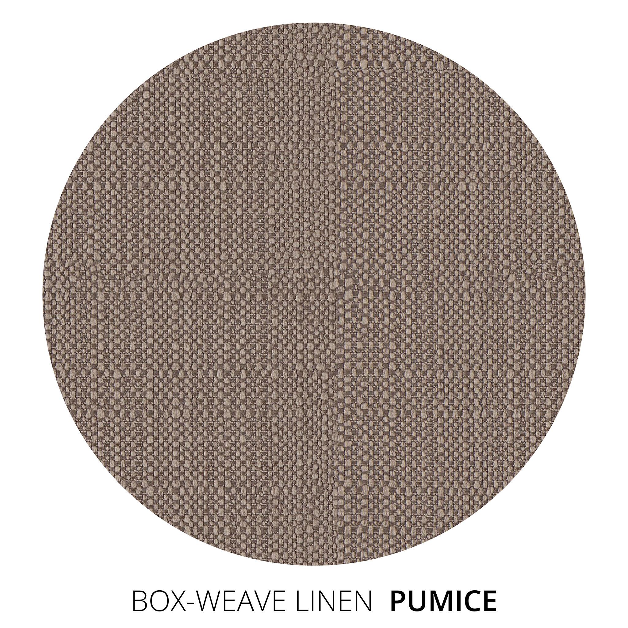 Pumice Box Weave Linen Swatch