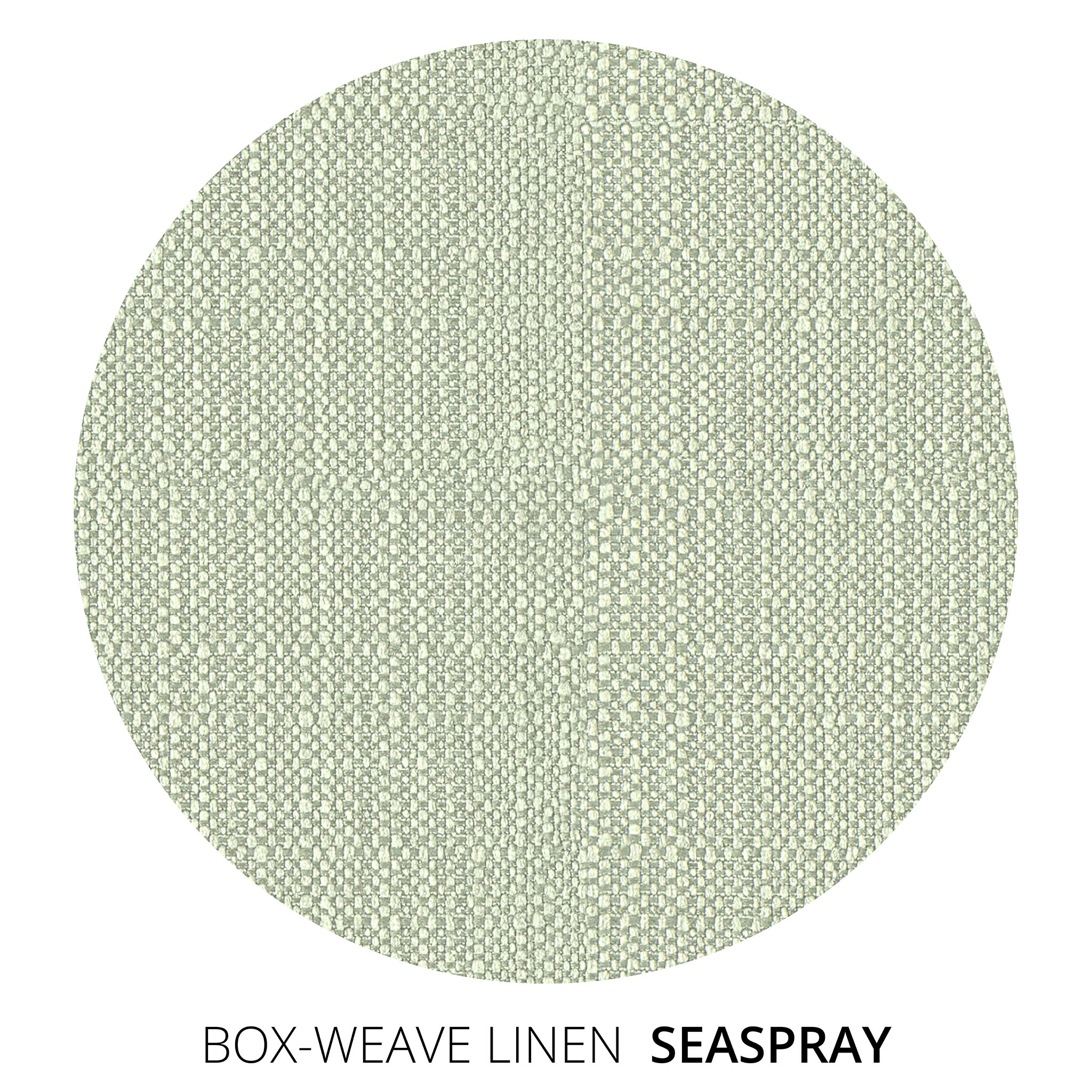 Sea Spray Box Weave Linen Swatch