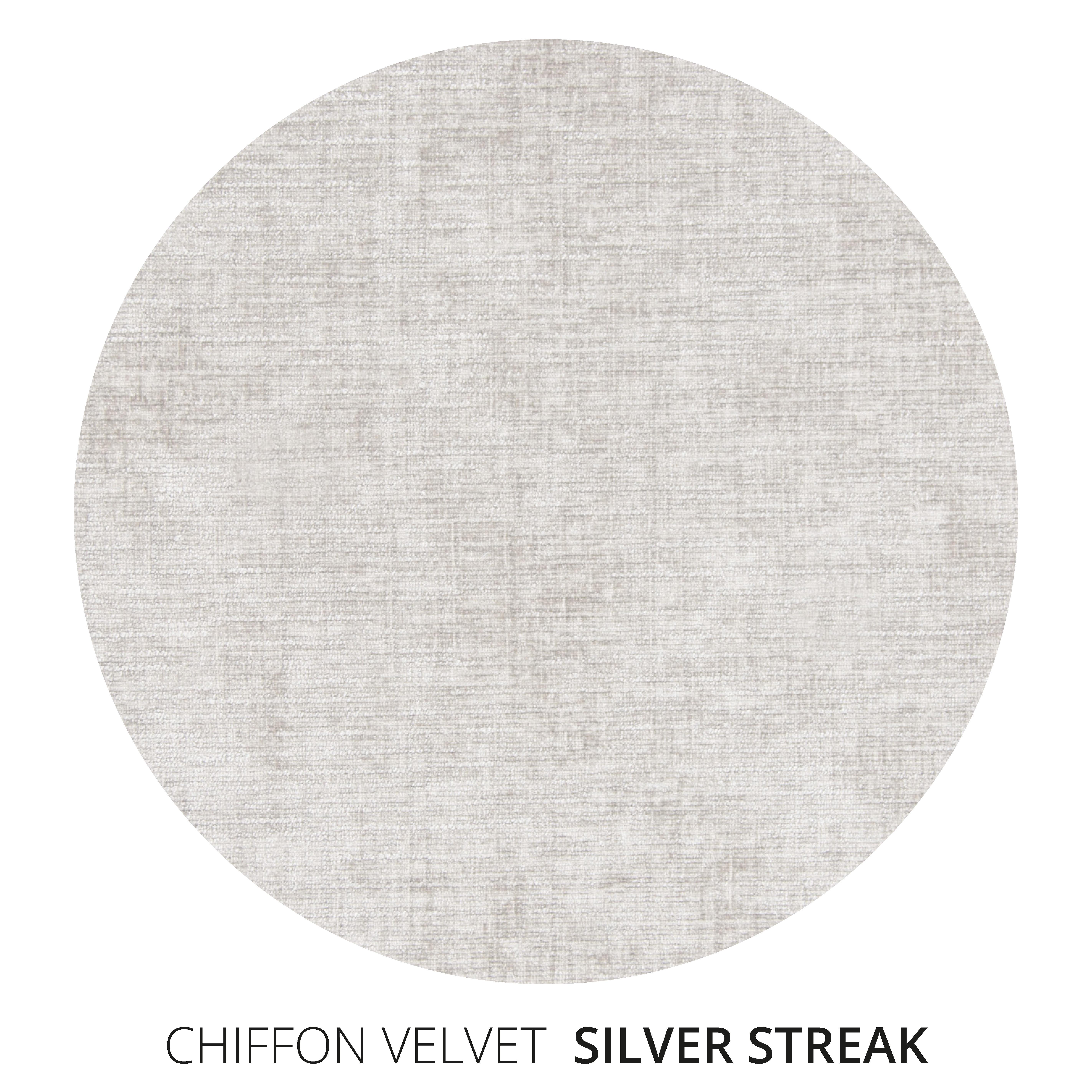 Silver Streak Chiffon Velvet Swatch