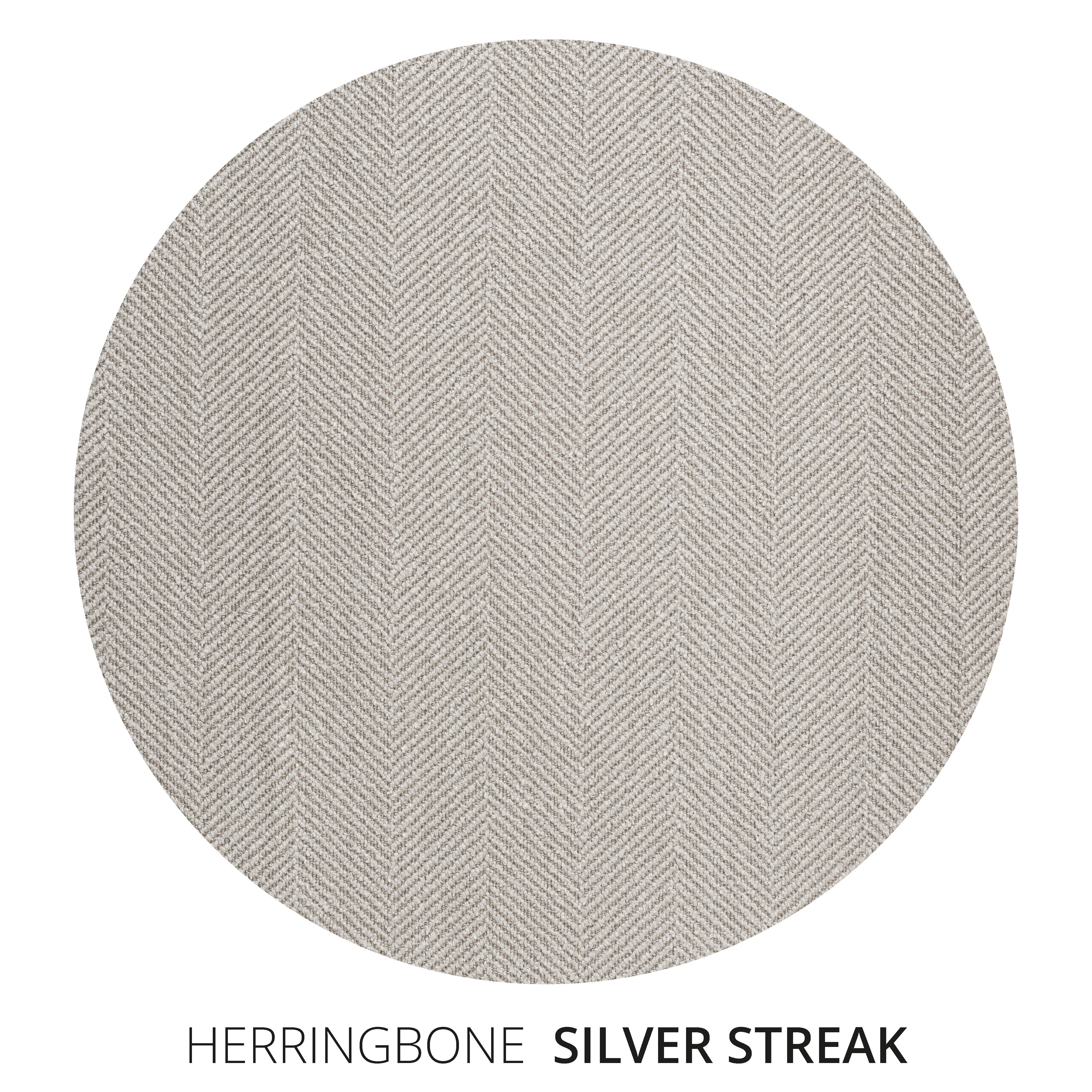 Silver Streak Herringbone Swatch