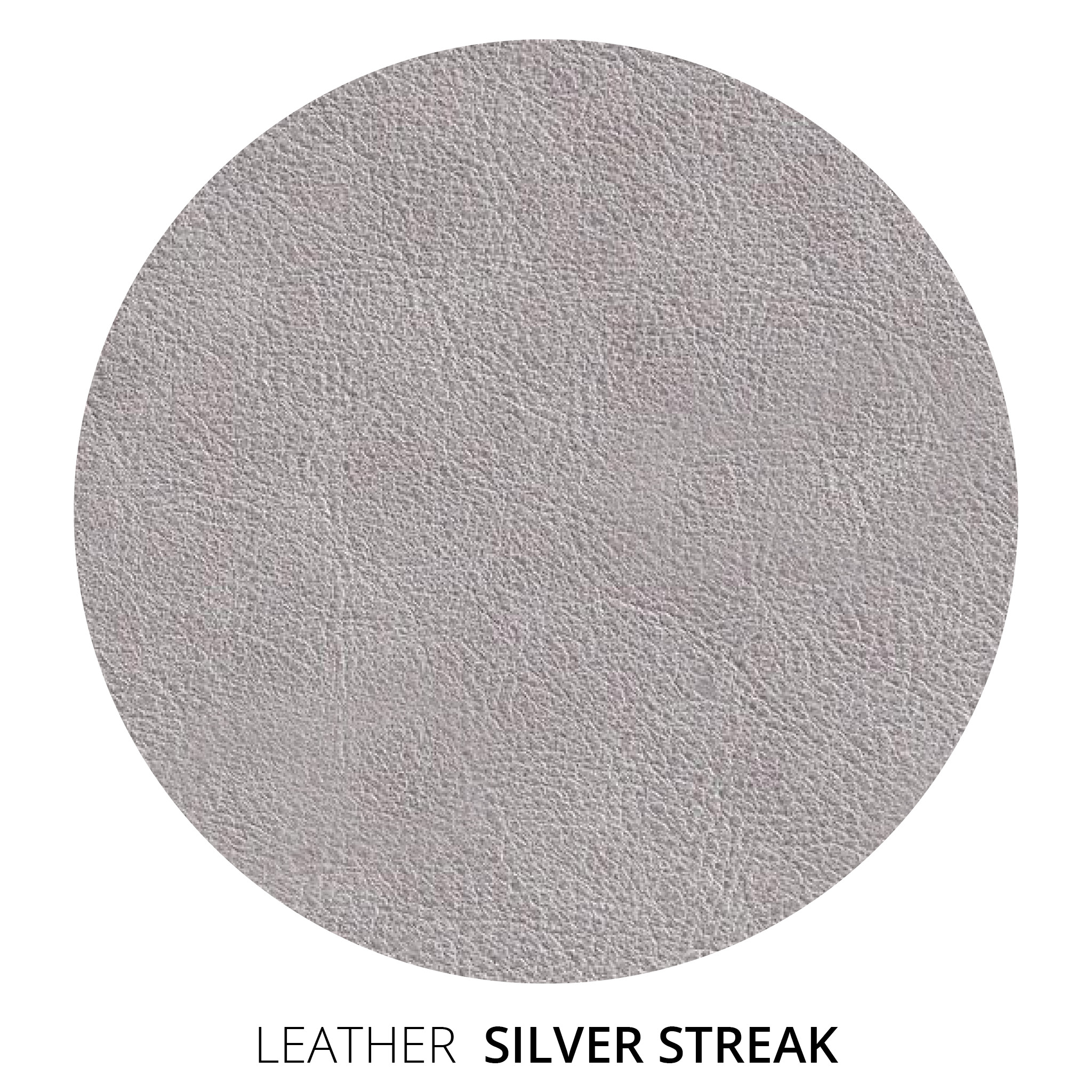 Silver Streak Leather Swatch