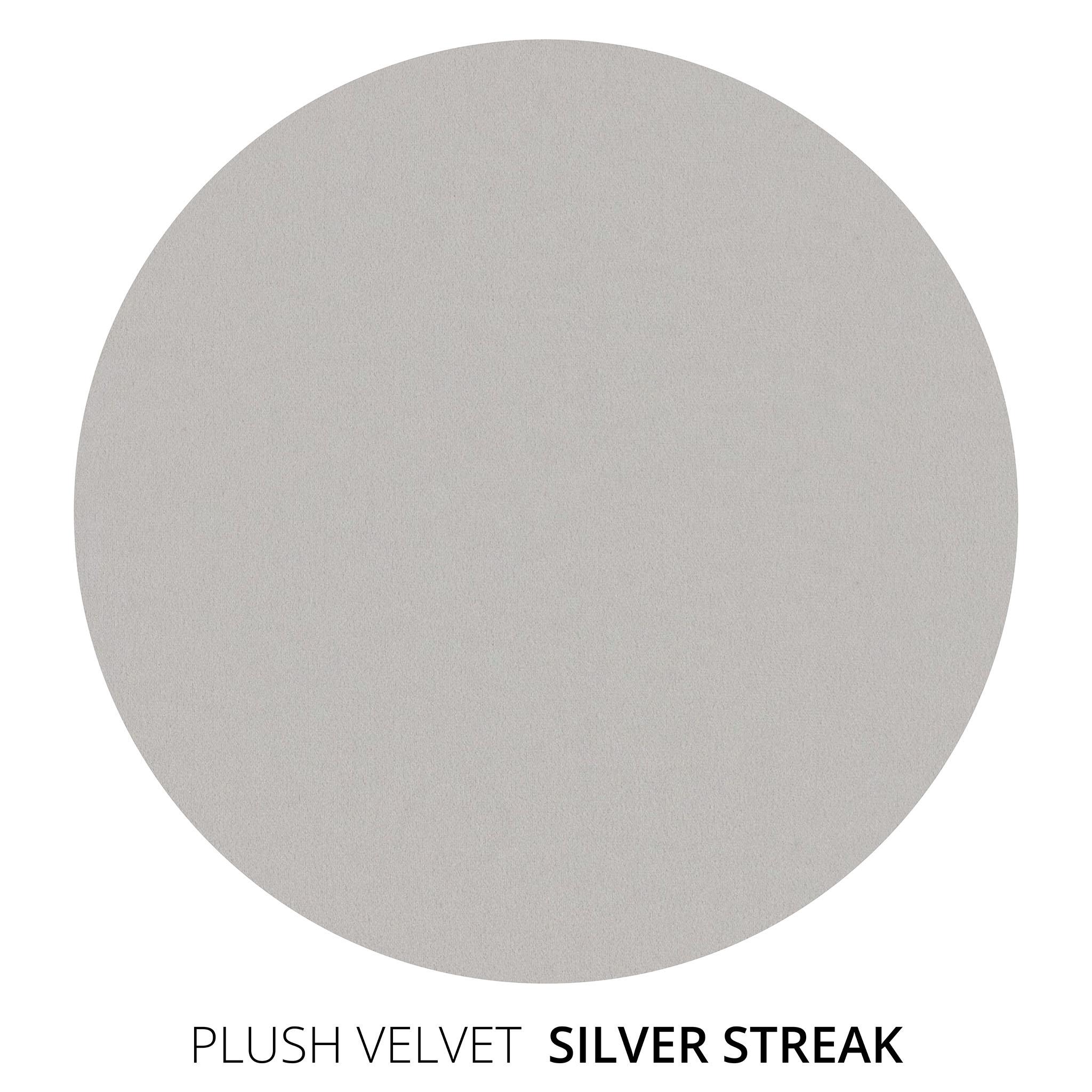 Silver Streak Plush Velvet Swatch